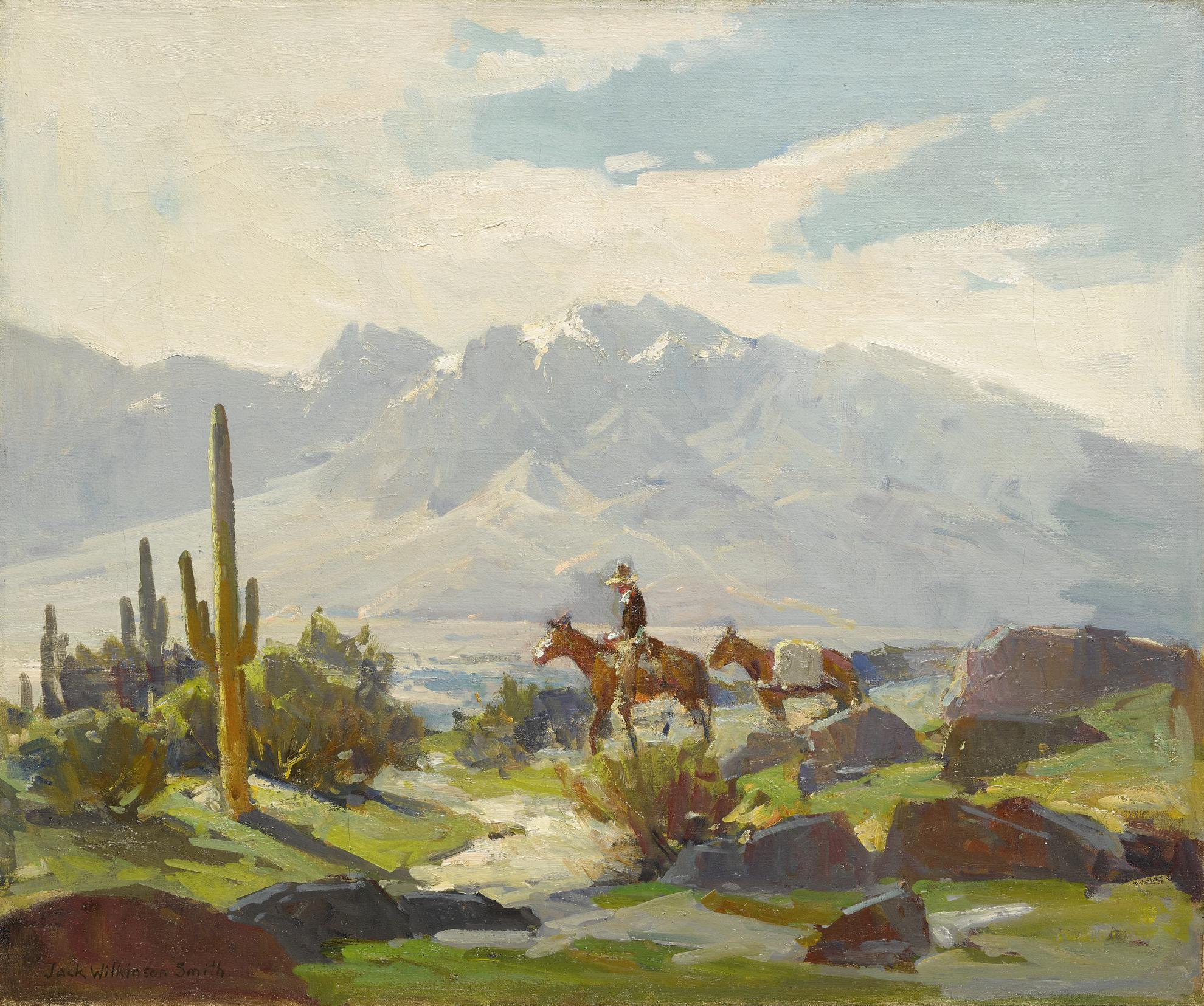 Jack Wilkinson Smith - Horseback With Cactus-