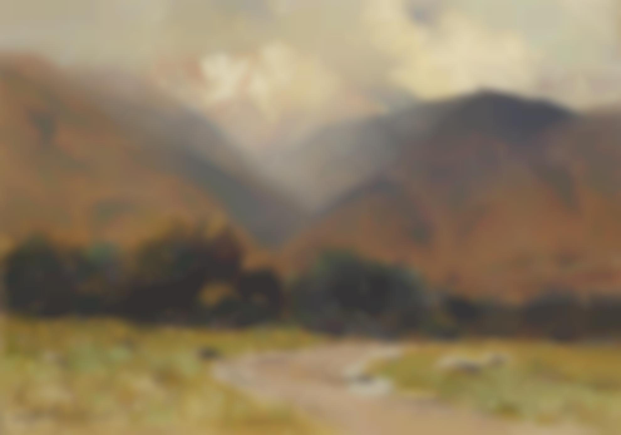 Charles Partridge Adams - Pikes Peak - Light Shower Near Manitou-1915