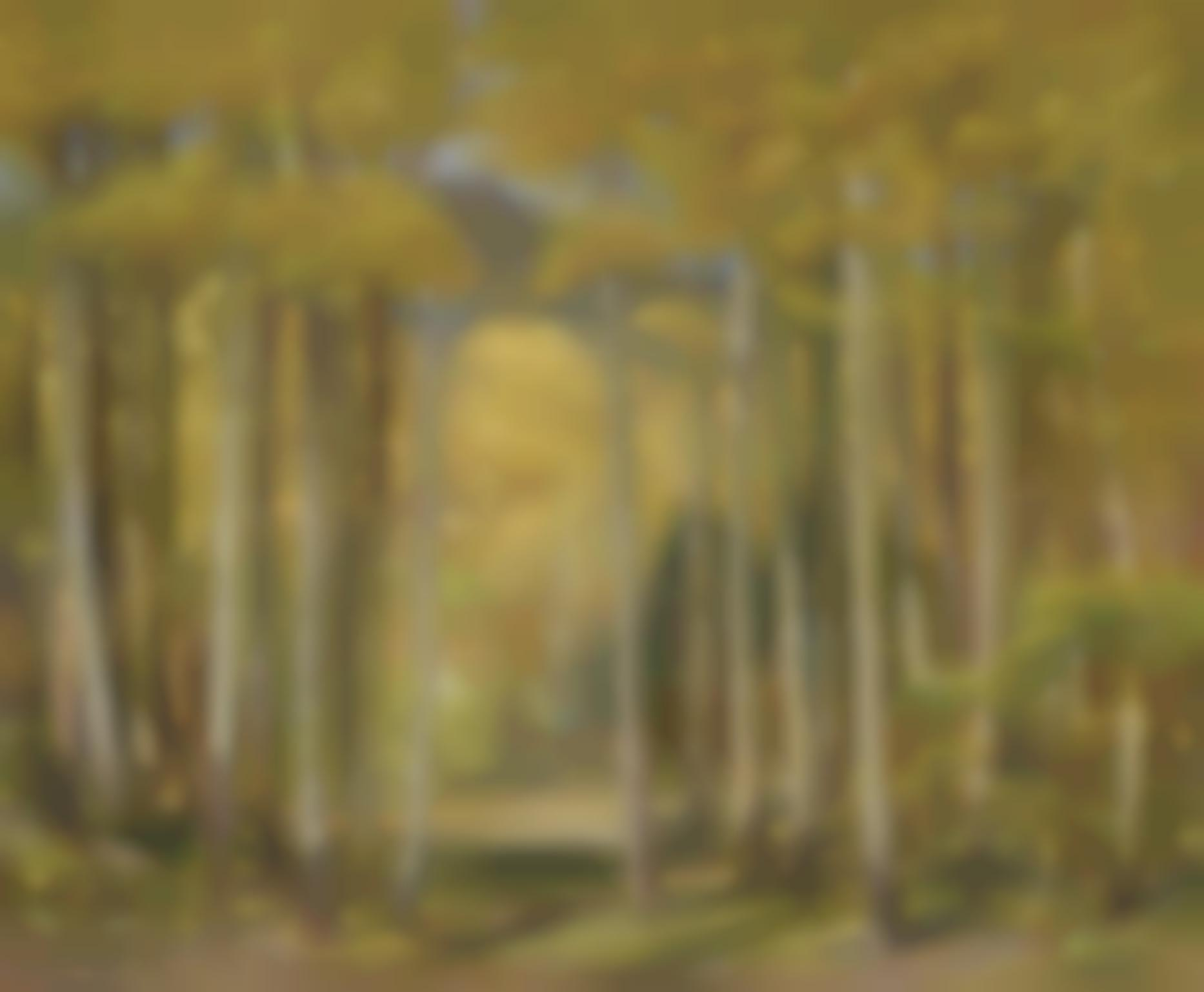 Oscar Edward Berninghaus - Autumn Aspen Forest-1949
