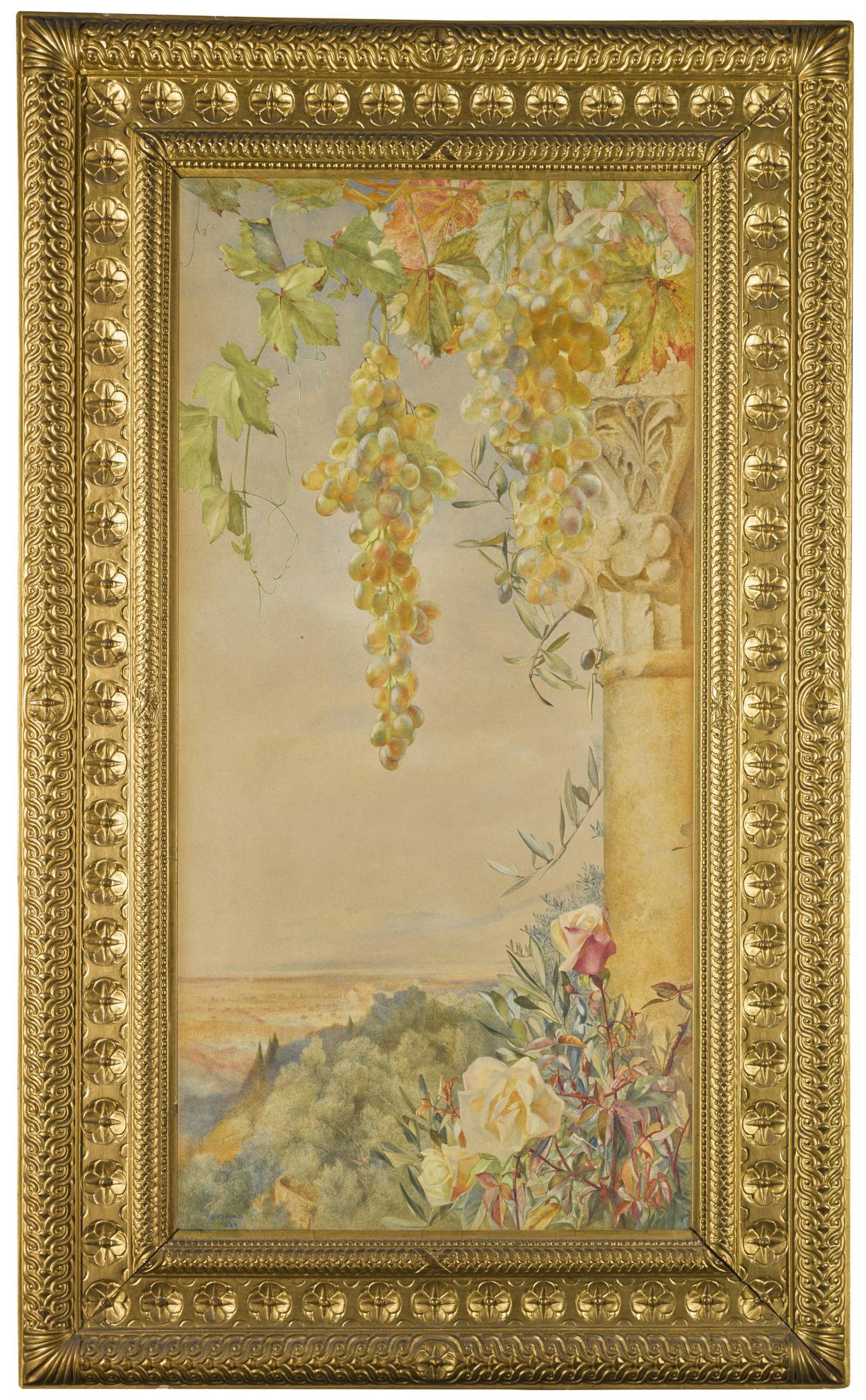 Henry Roderick Newman - Roses, Grapes And Olives-1884