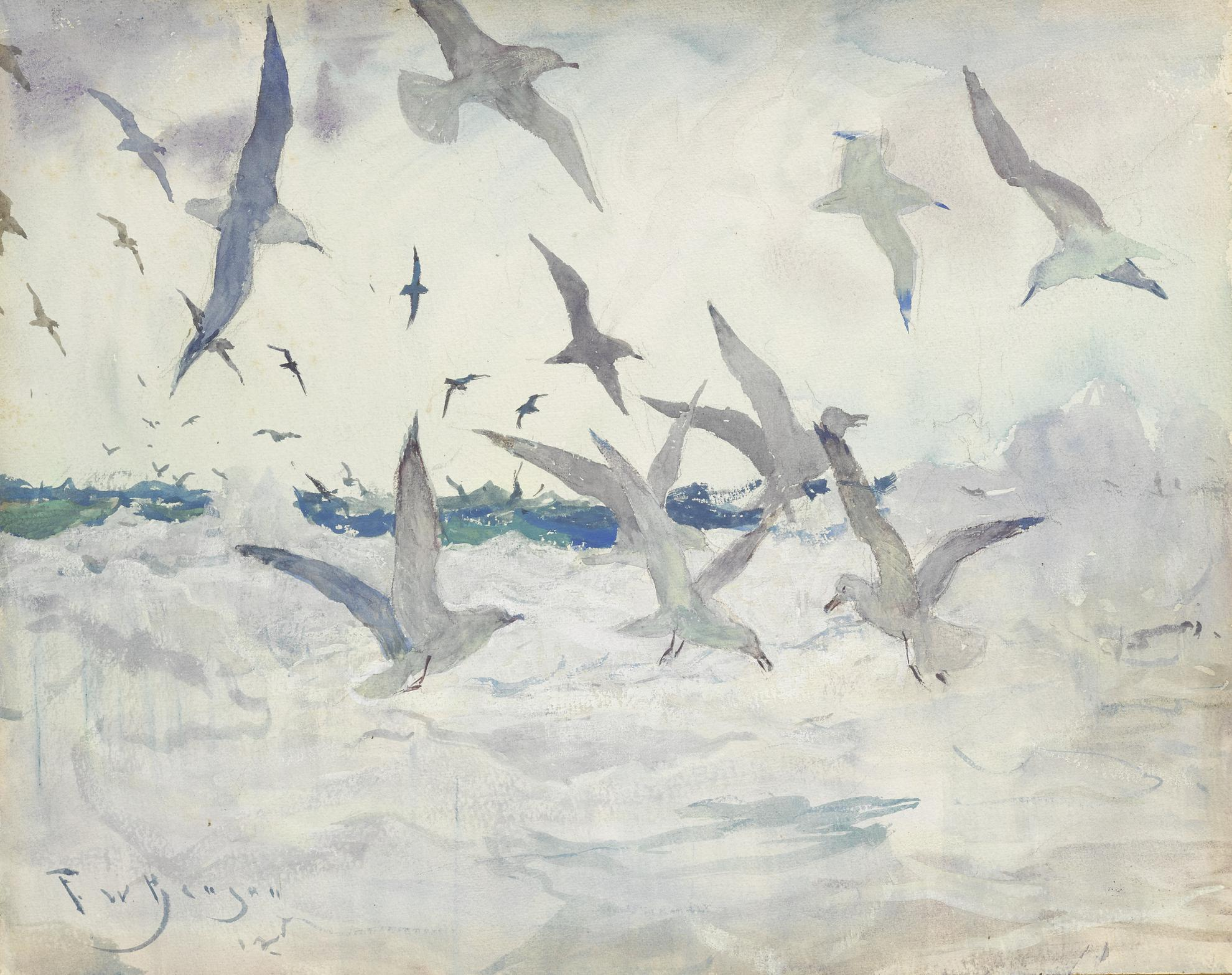 Frank Weston Benson - Sea Gulls-1925
