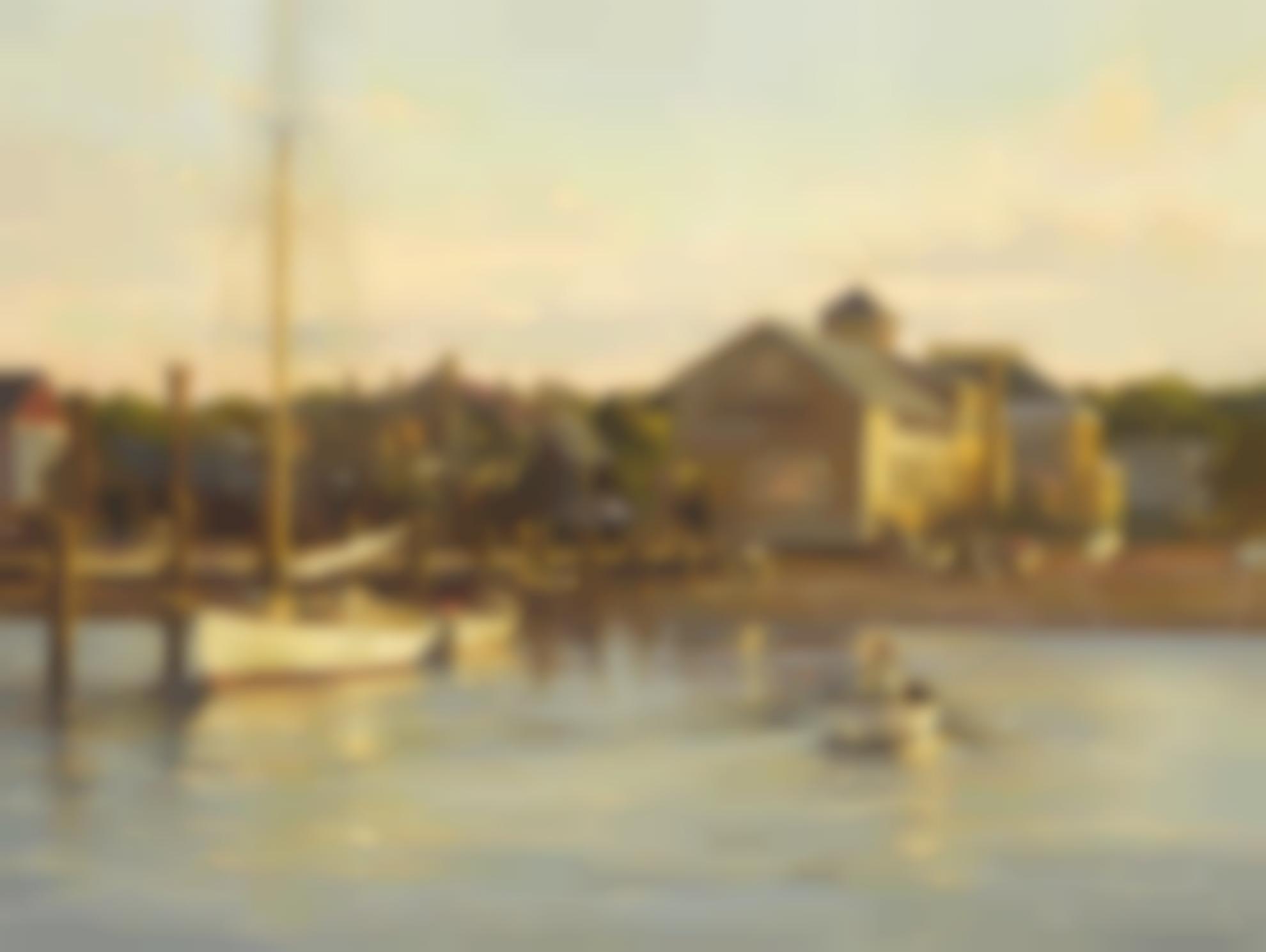 Frank P. Corso - Fishing At Dawn On The Docks-