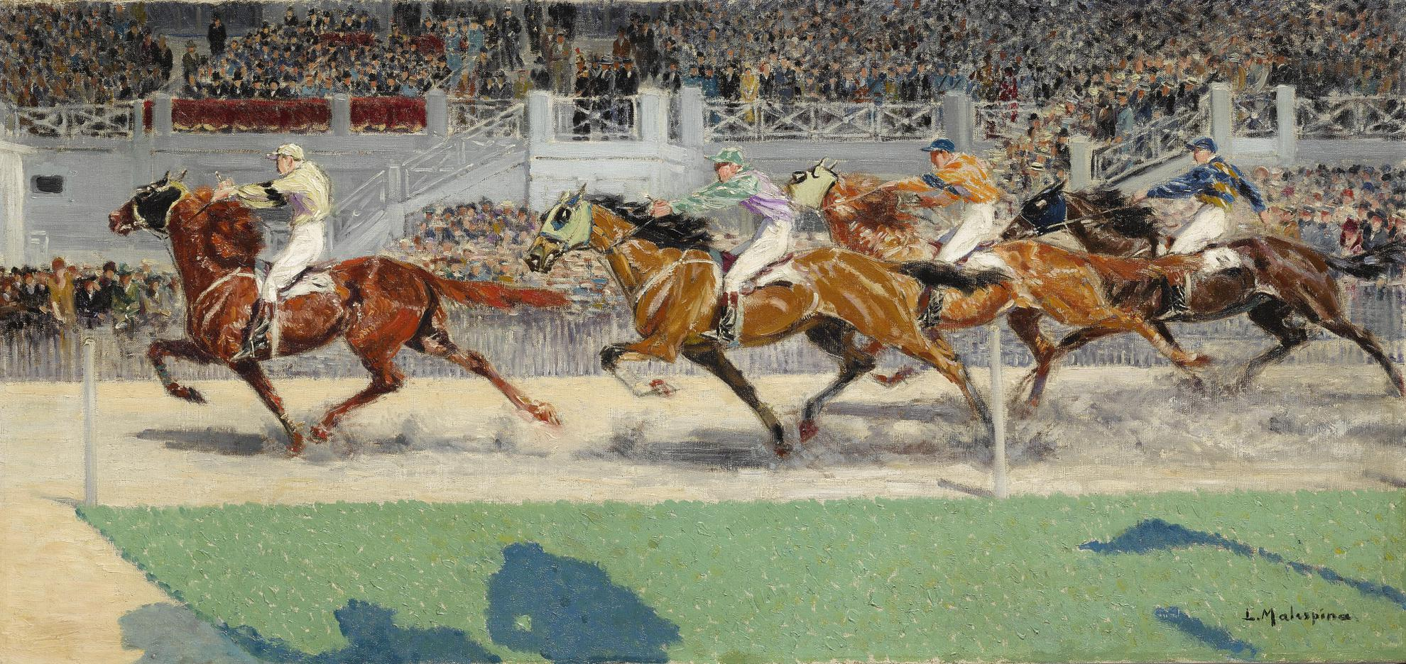 Louis-Ferdinand Malespina - Prix Du President, Vincennes, 1928, Gagnant Cyclone A.M. Dupuis-1928