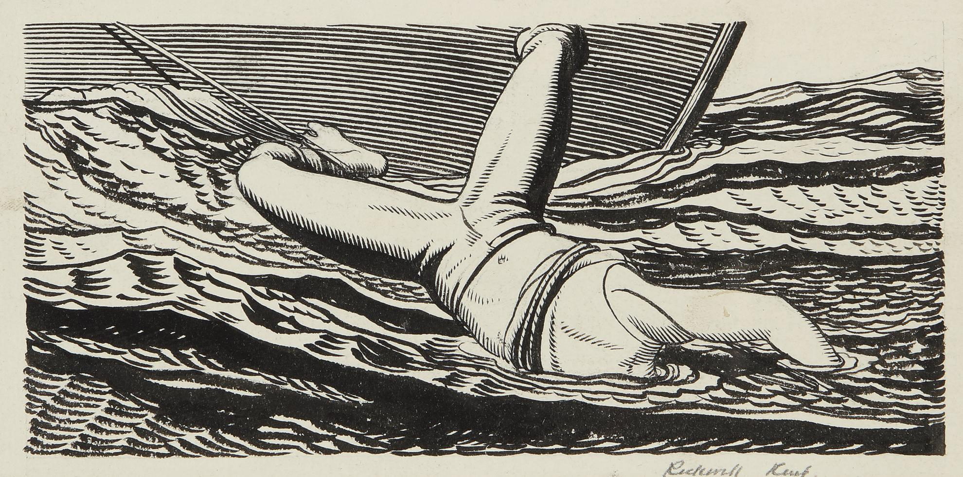 Rockwell Kent-Chapter Lx Heading For Moby-Dick-