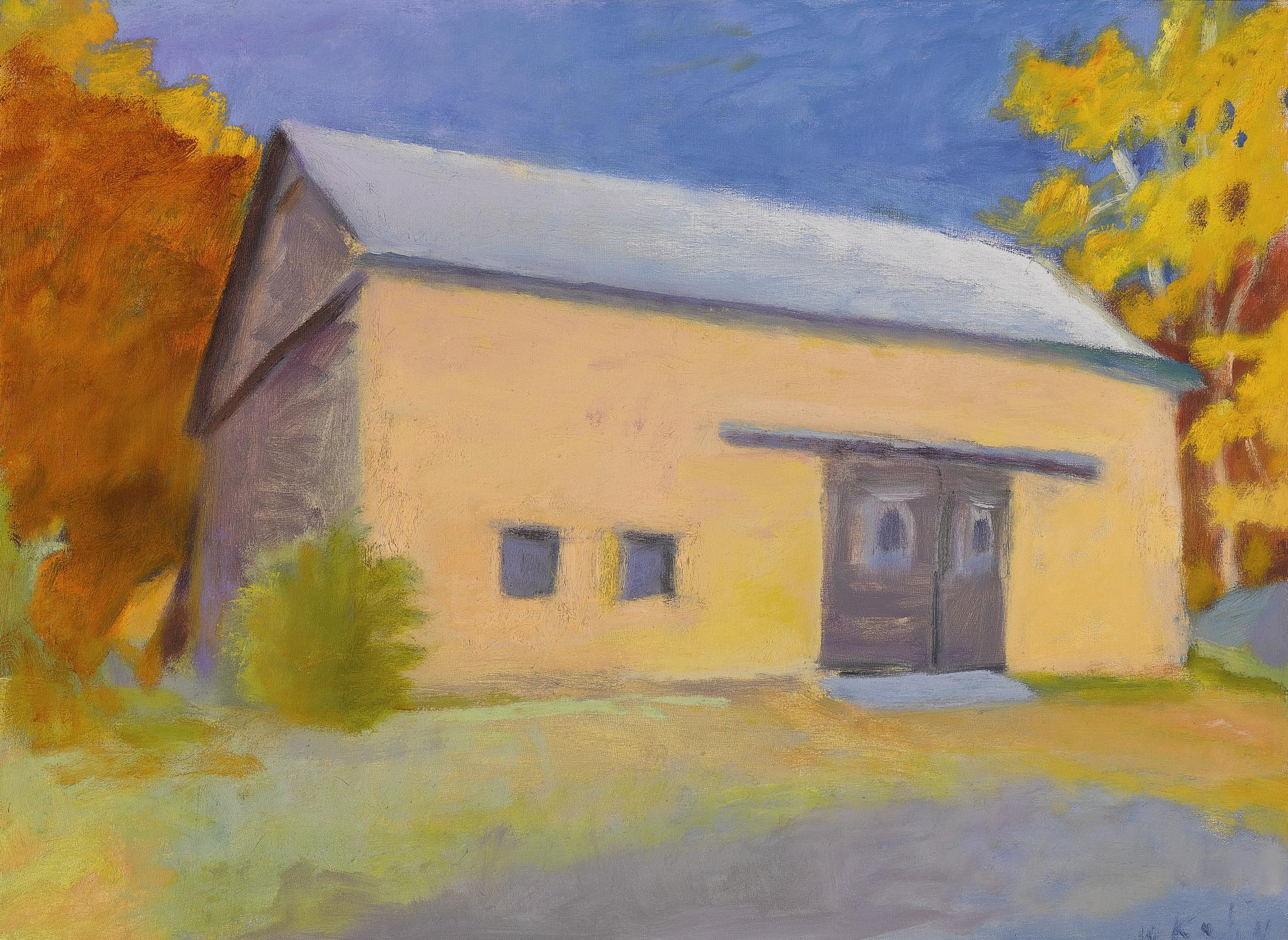 Wolf Kahn-Barn On The Ames Hill Road-1992