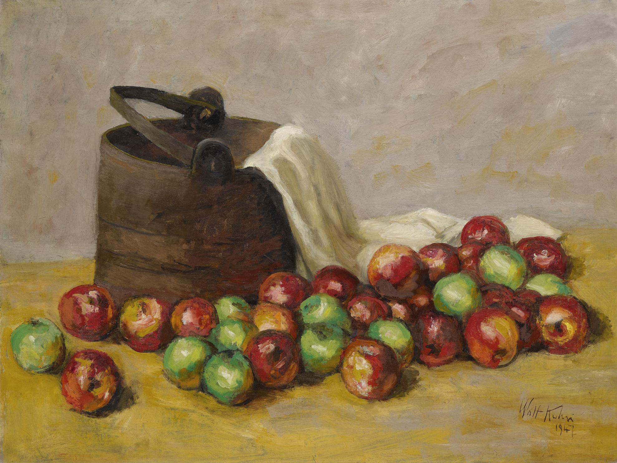 Walt Kuhn-Sap Bucket And Apples-1947