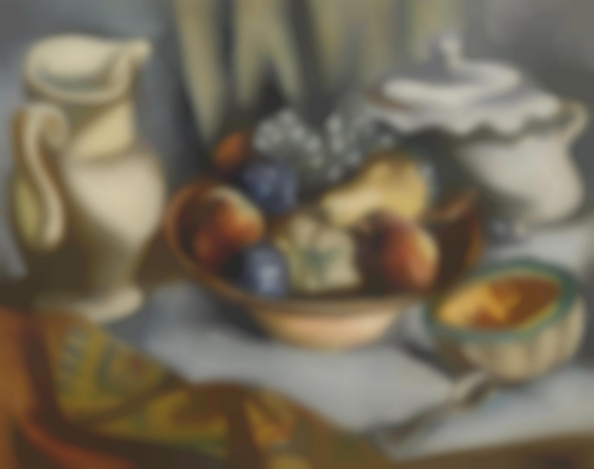 Jan Matulka - Still Life With Fruit-1930
