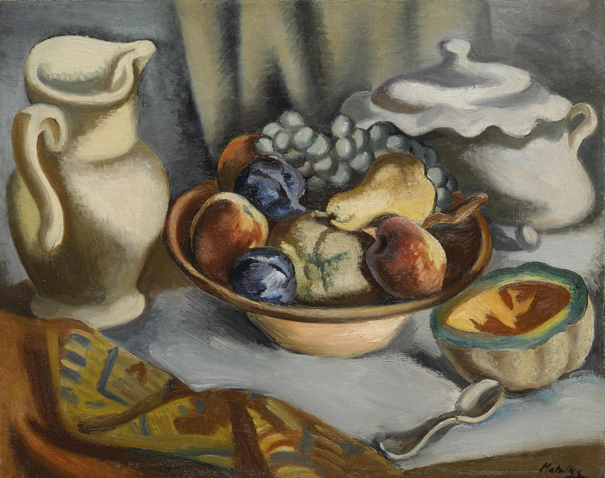 Jan Matulka - Still Life With Fruit-1930