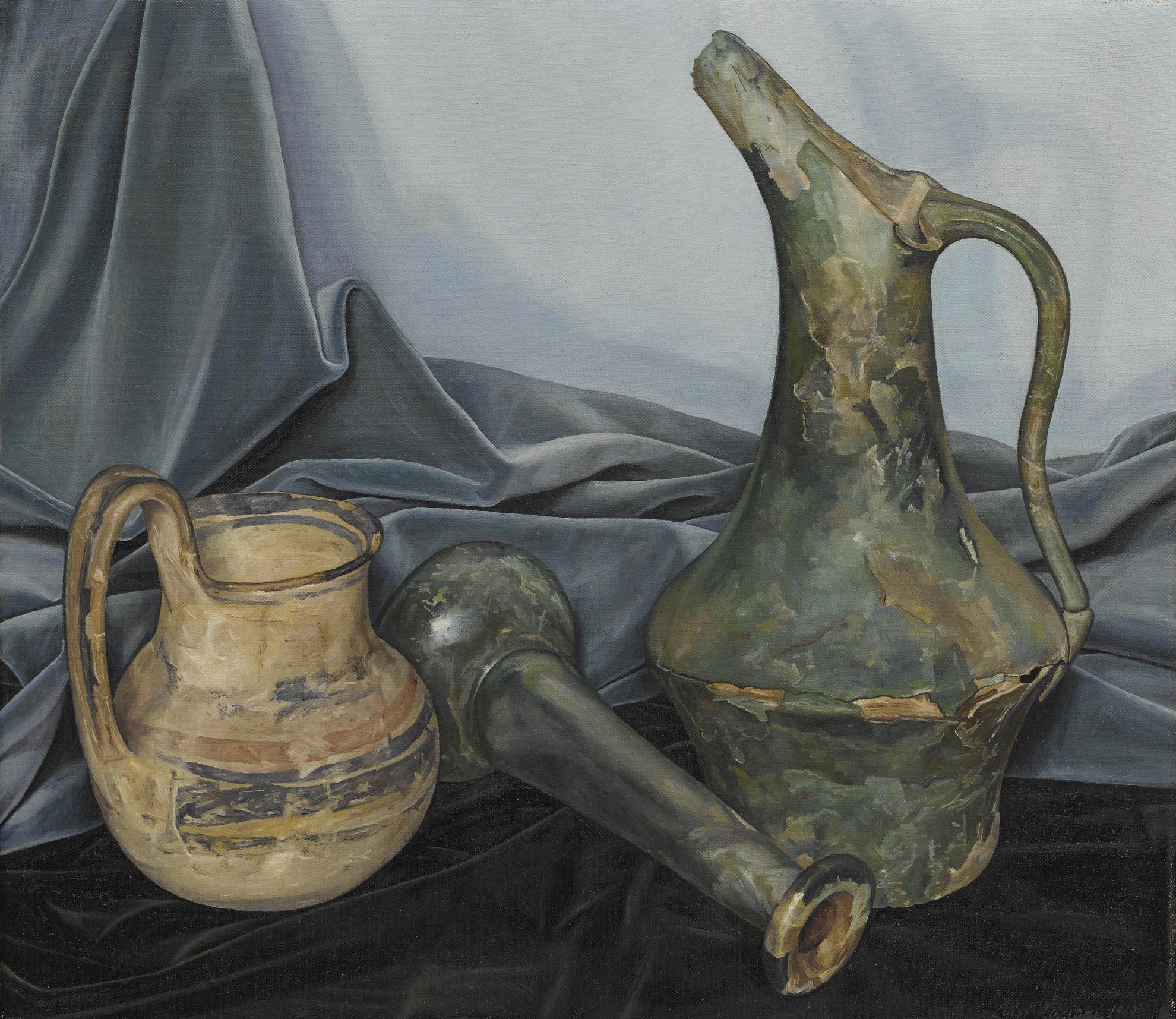 Luigi Lucioni - Blue-Green Motif-1969