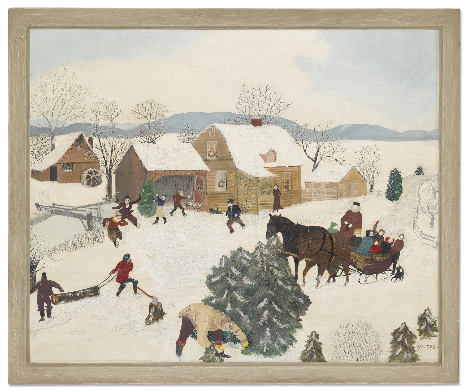 Anna Mary Robertson Moses - Hurrah For Christmas-1946