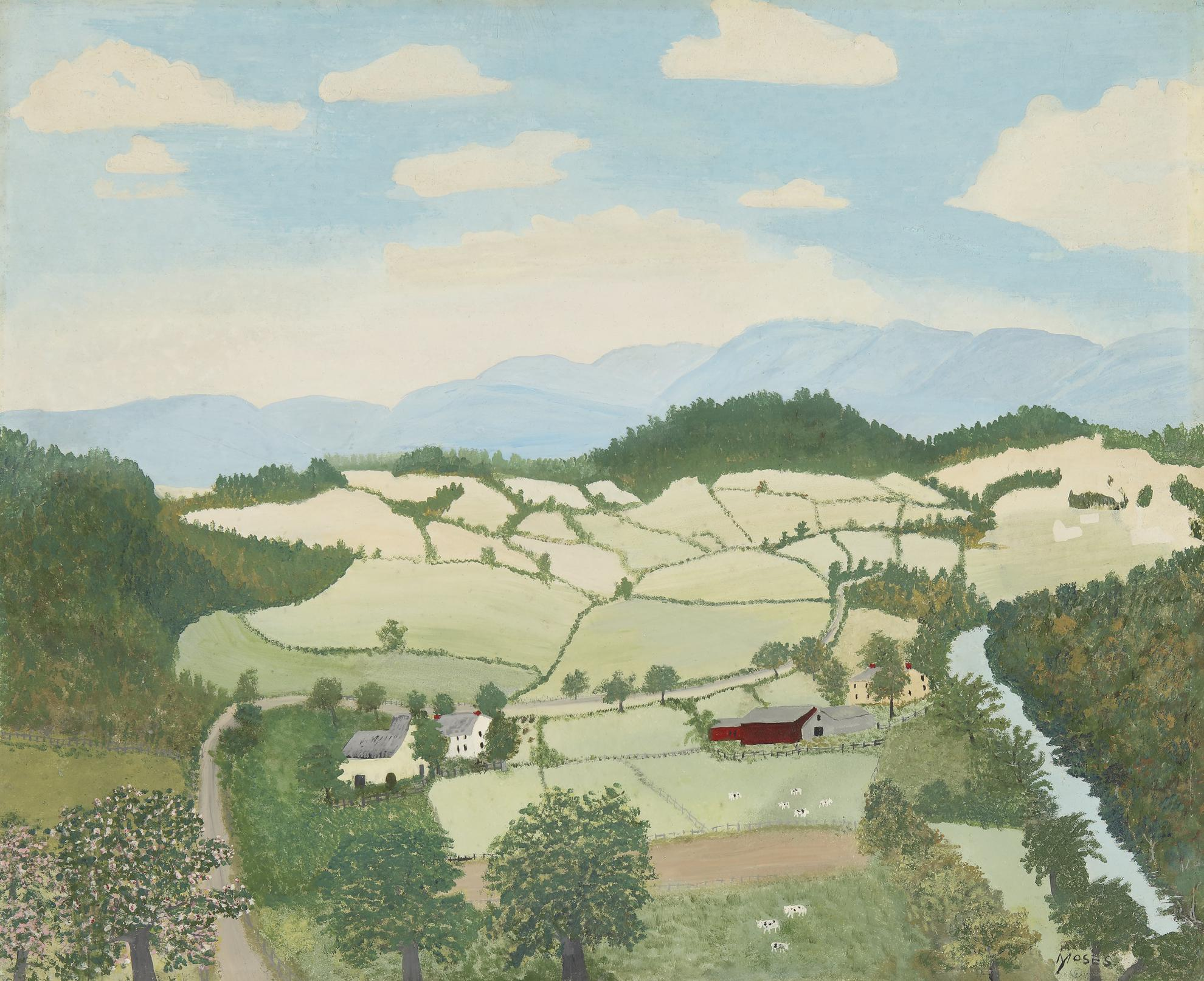 Anna Mary Robertson Moses - Hoosick Valley-1946