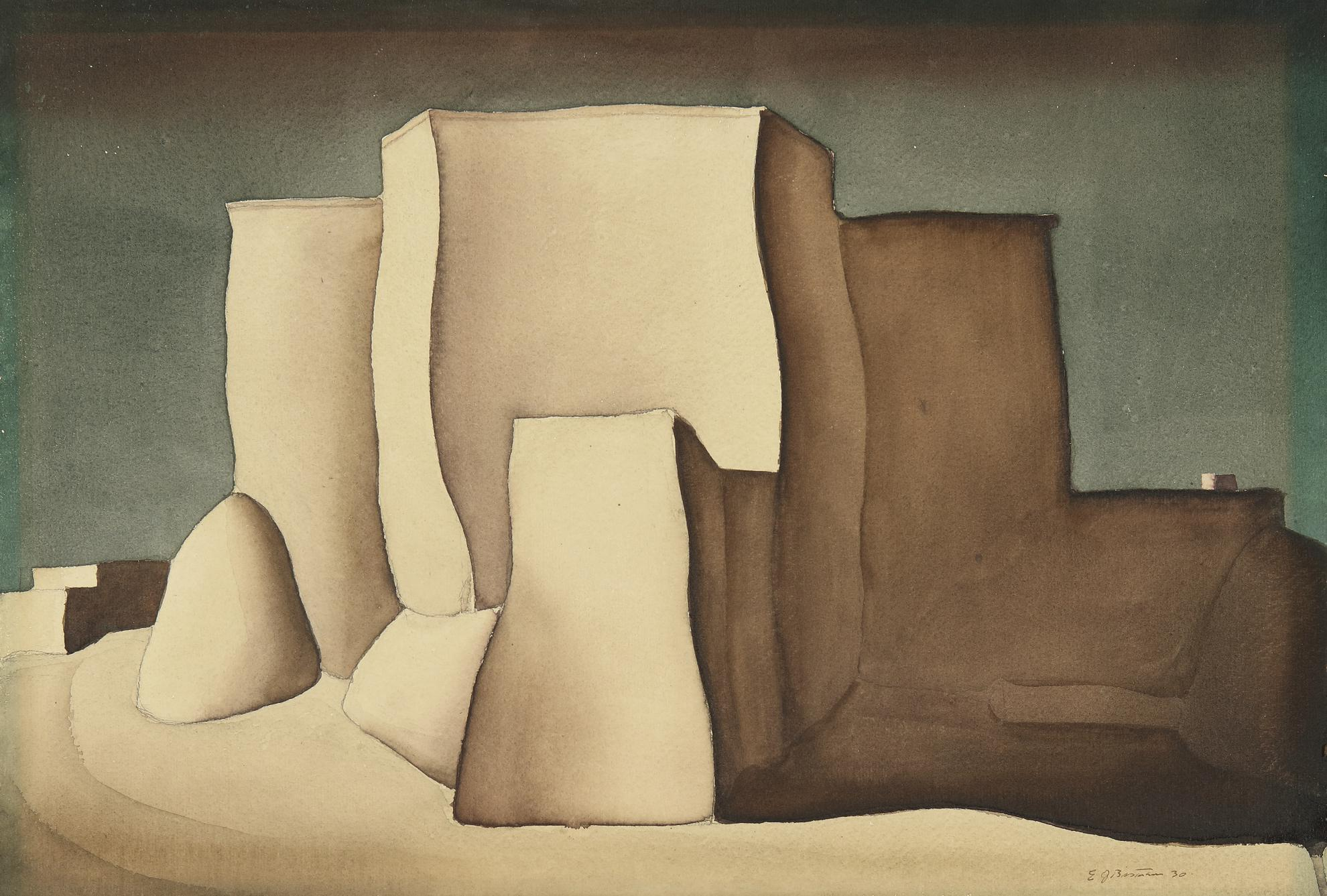 Emil Bisttram - Santa Fe Church-1930