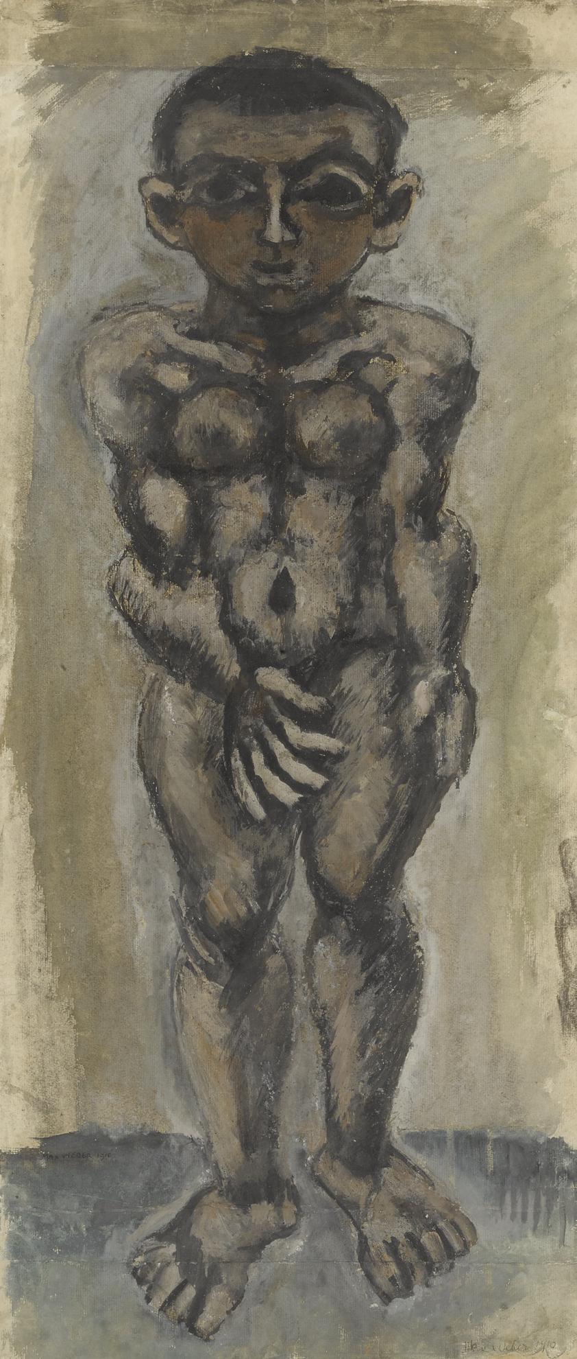 Max Weber-Male Nude-1910