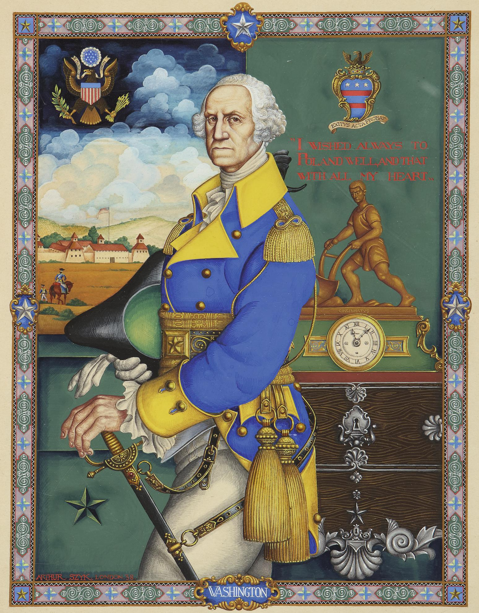 Arthur Szyk - George Washington-1938