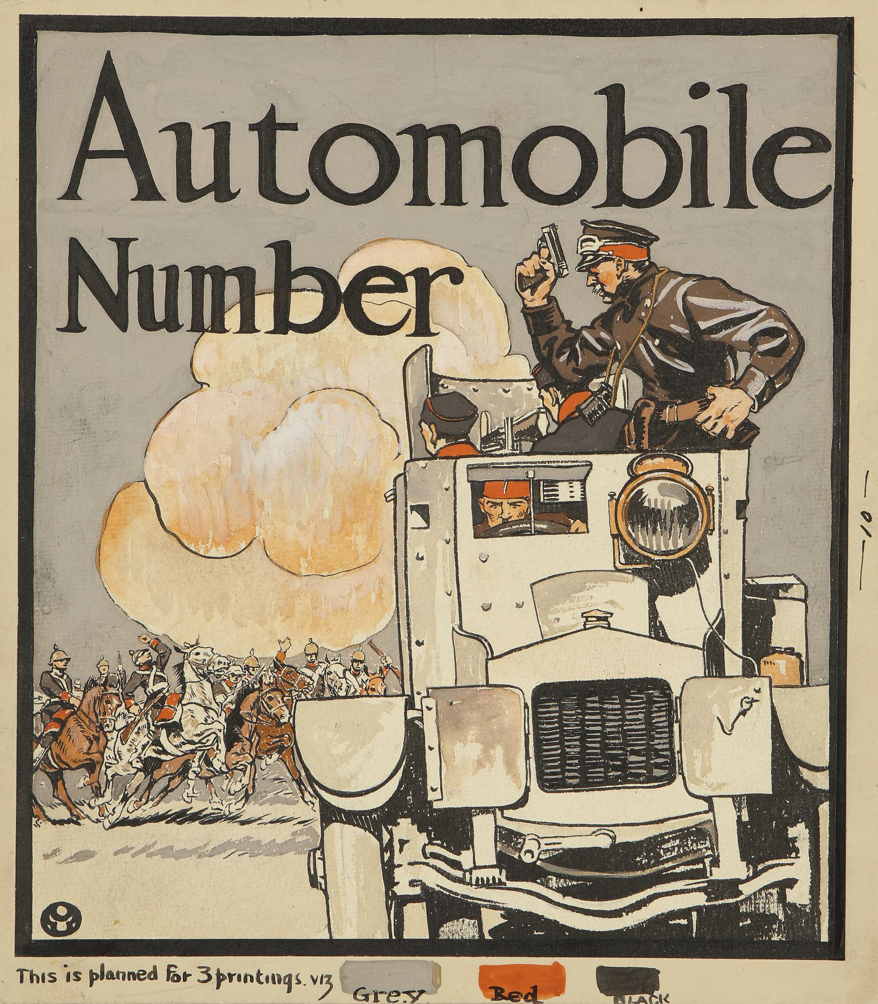 Edward Penfield-Automobile Number-1914
