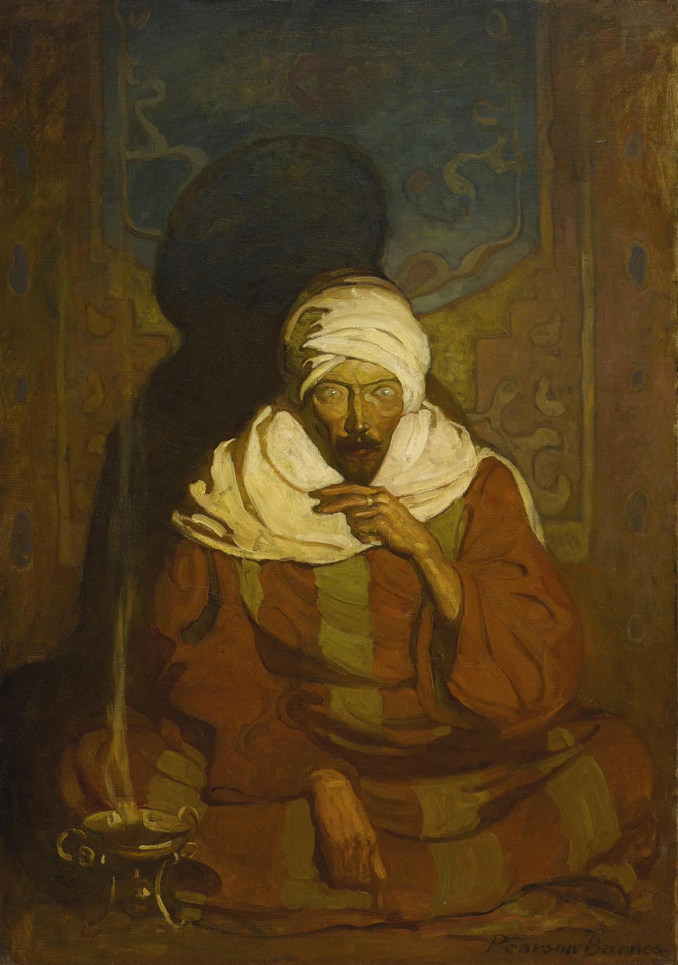 N. C. Wyeth - A Hindu Mystic (Seated Arab)-1912