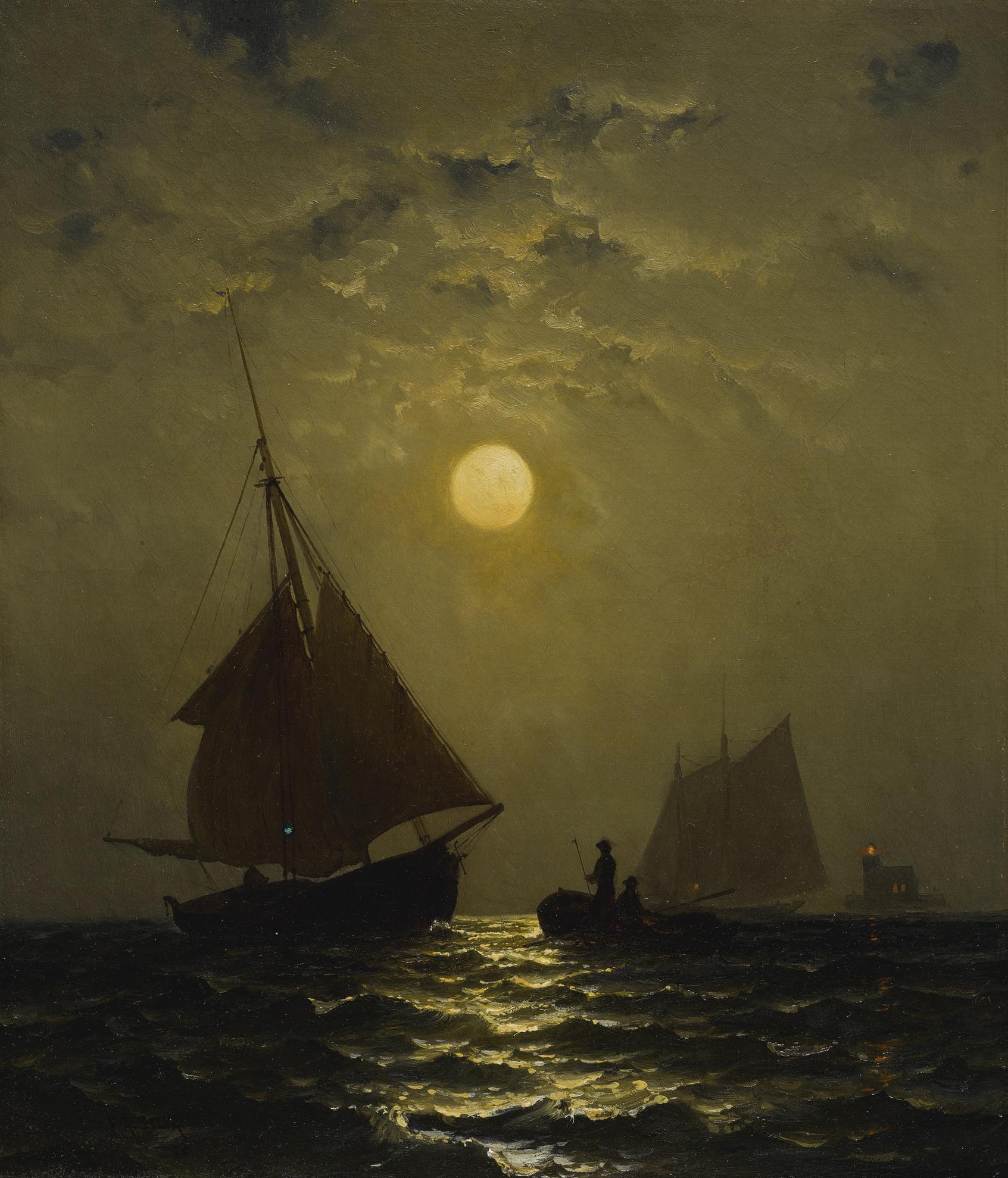 Francis Augustus Silva - Moonlight Sail-1980
