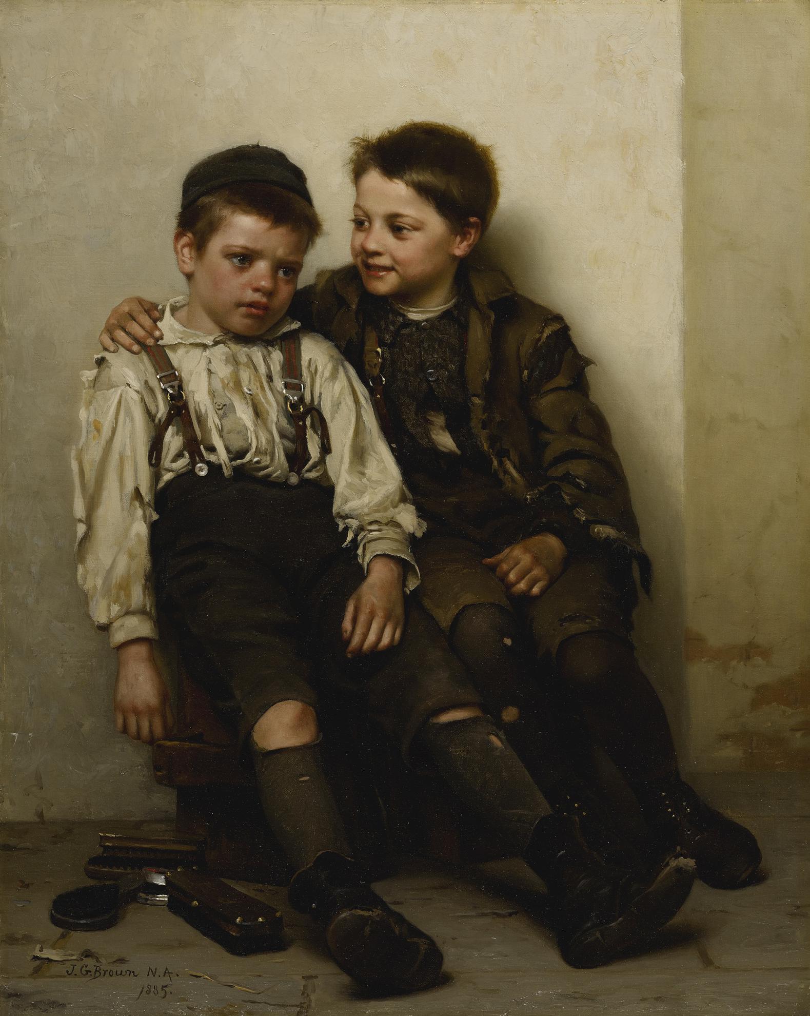 John George Brown - Sympathy-1885