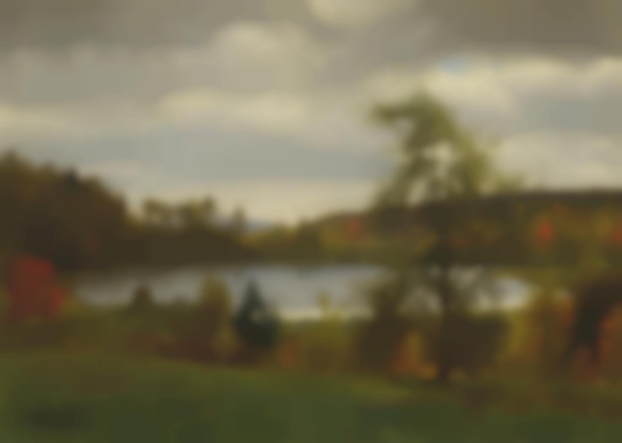 Albert Bierstadt - Landscape With Lake-