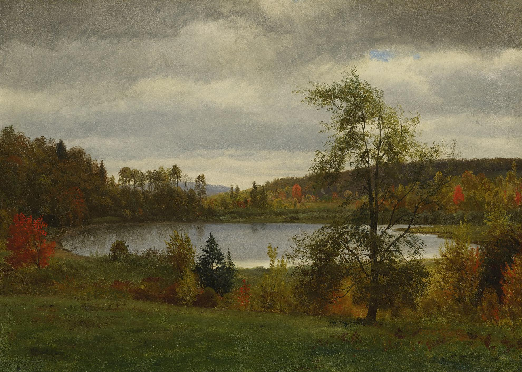 Albert Bierstadt - Landscape With Lake-