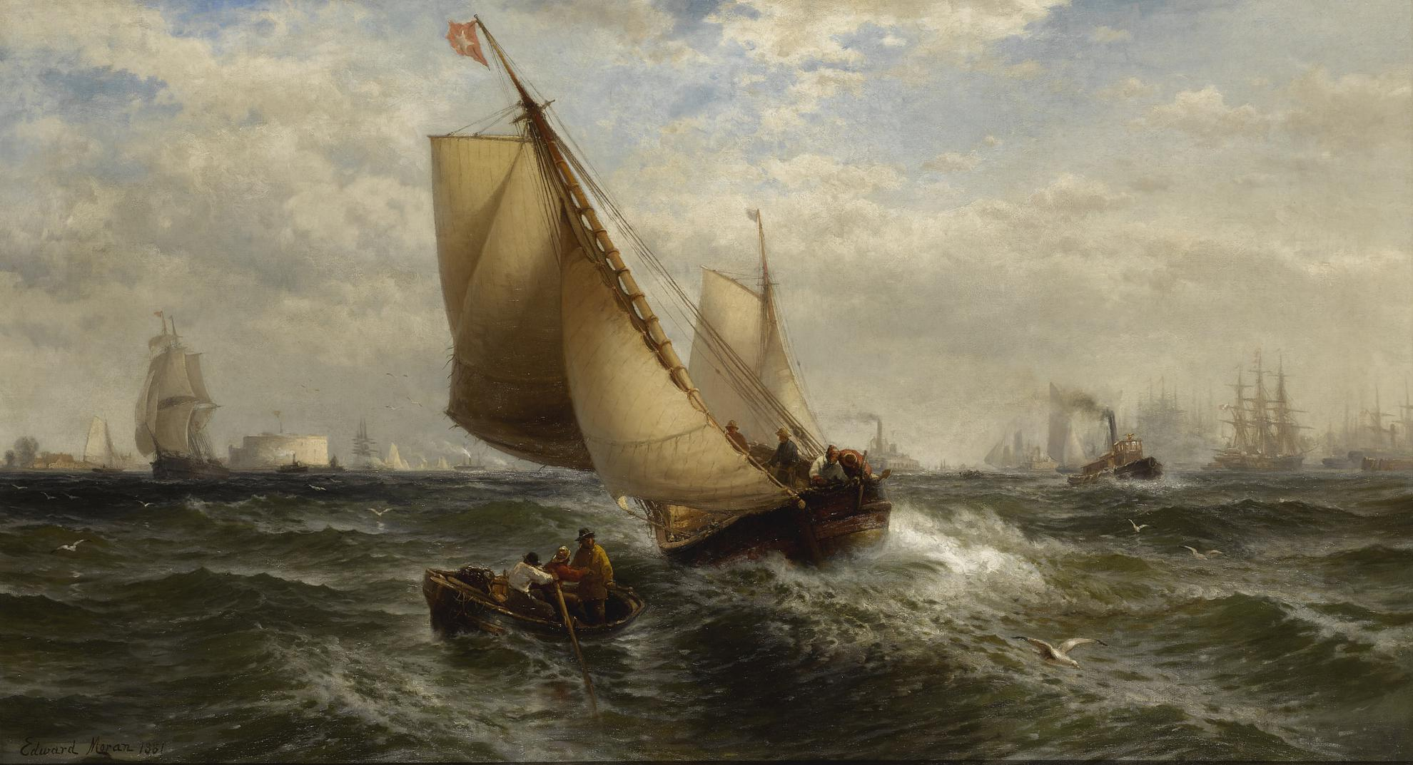 Edward Moran - New York Bay-1881