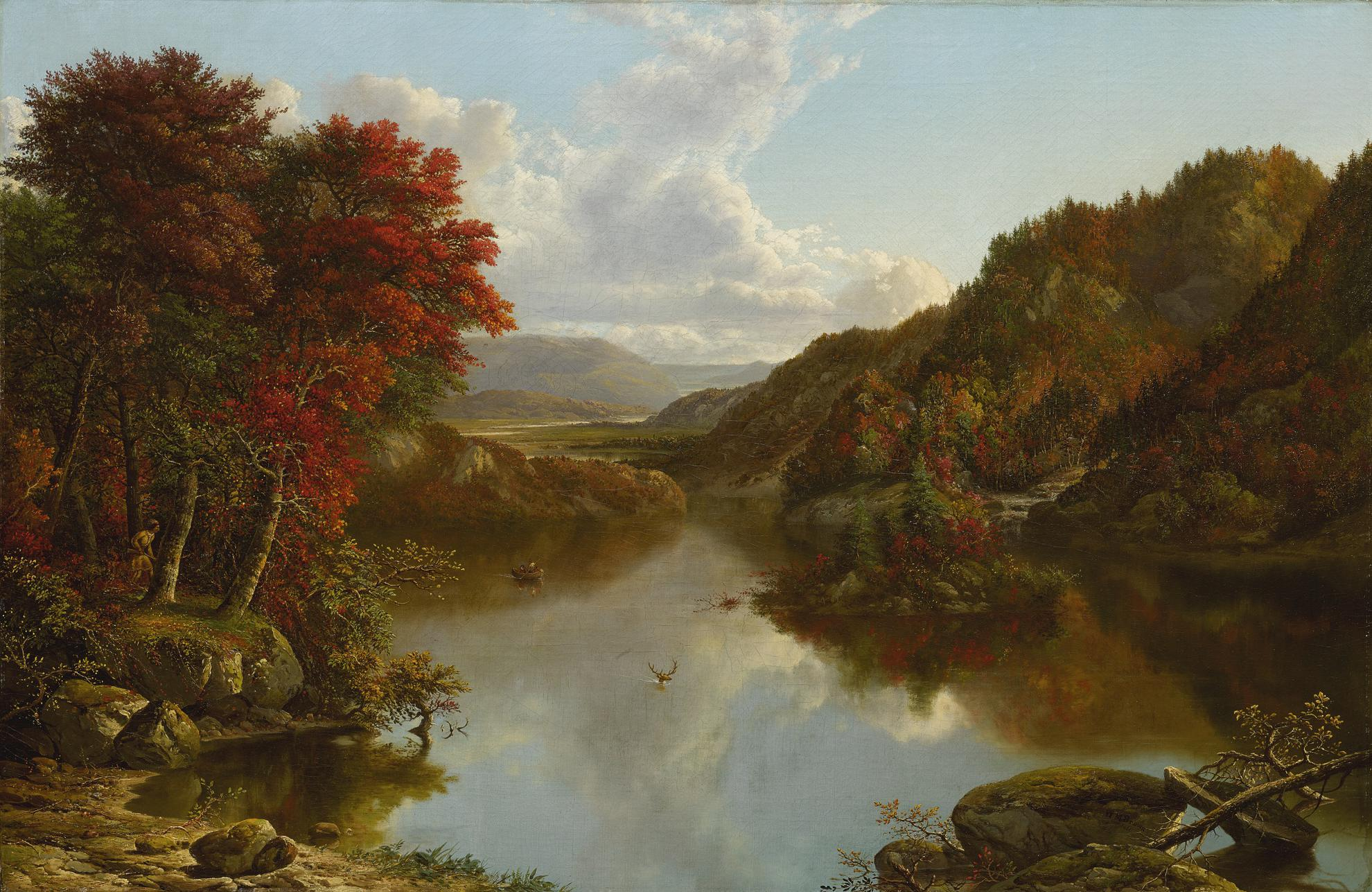 William Mason Brown - Autumn Landscape-1861