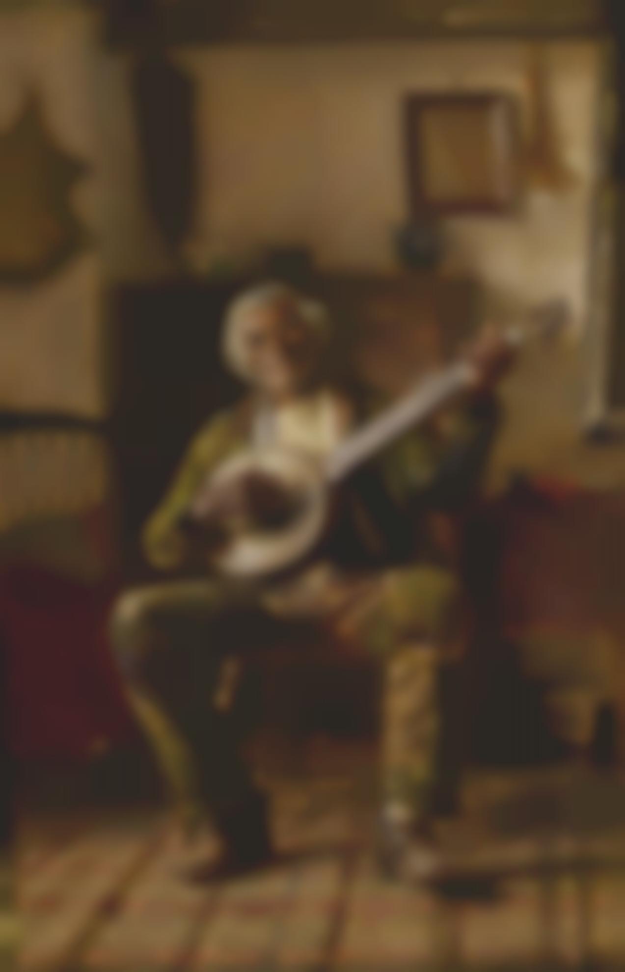 Thomas Hovenden - Untitled (Man With Banjo)-1882