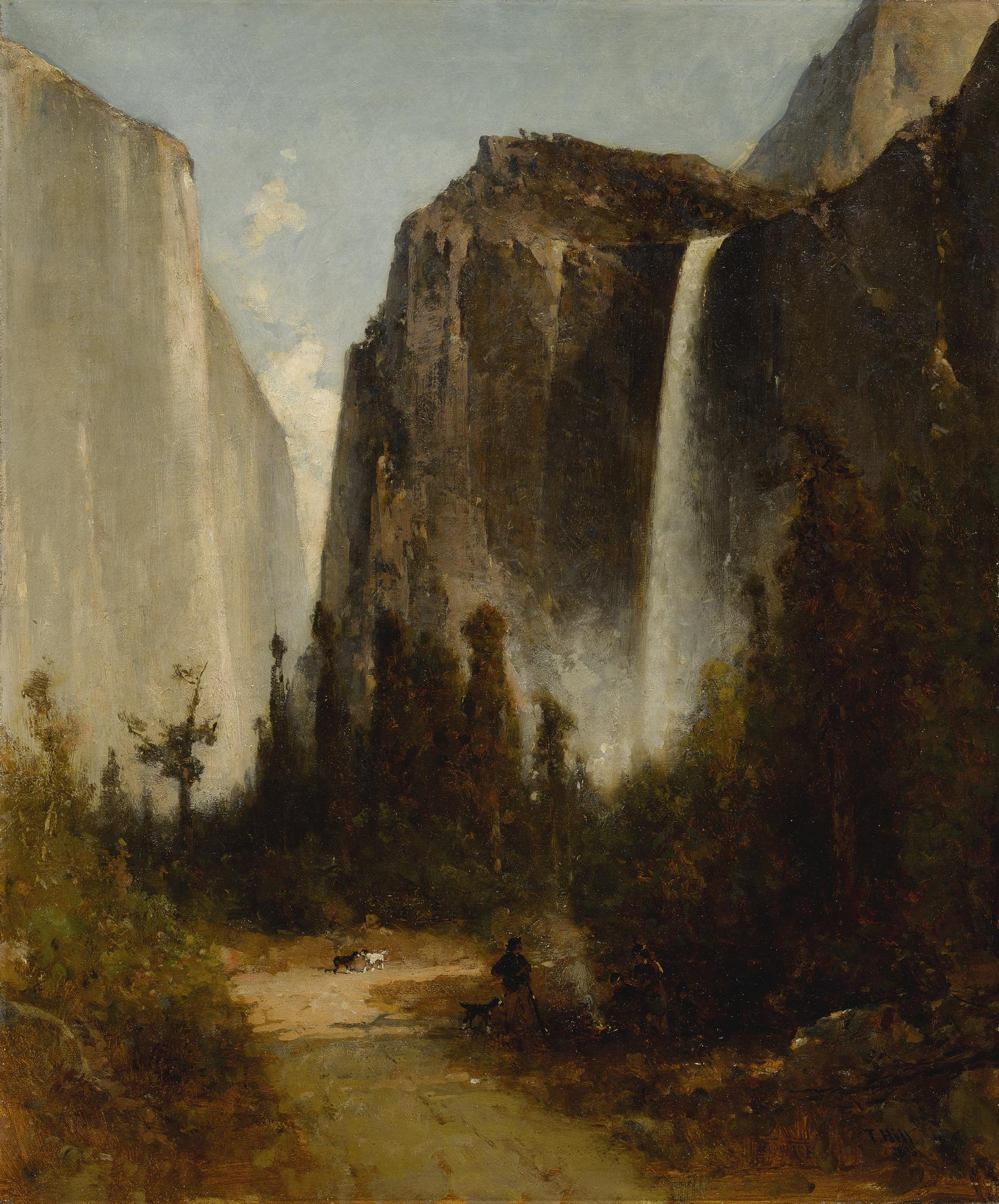 Thomas Hill - Bridal Veil Falls, Yosemite-1895