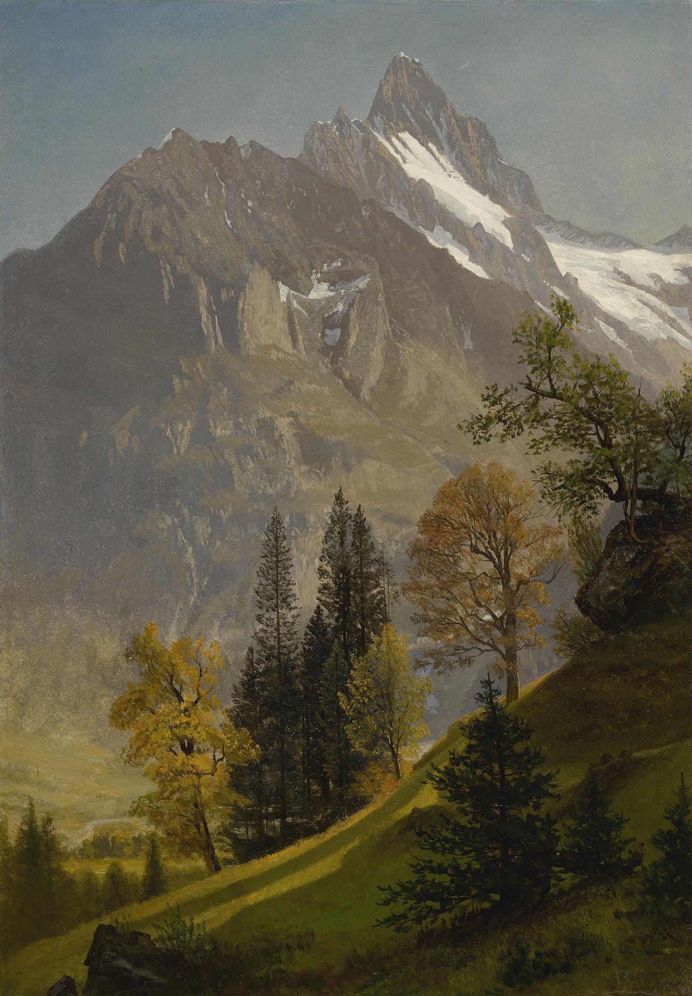 Albert Bierstadt - Mountain Landscape-