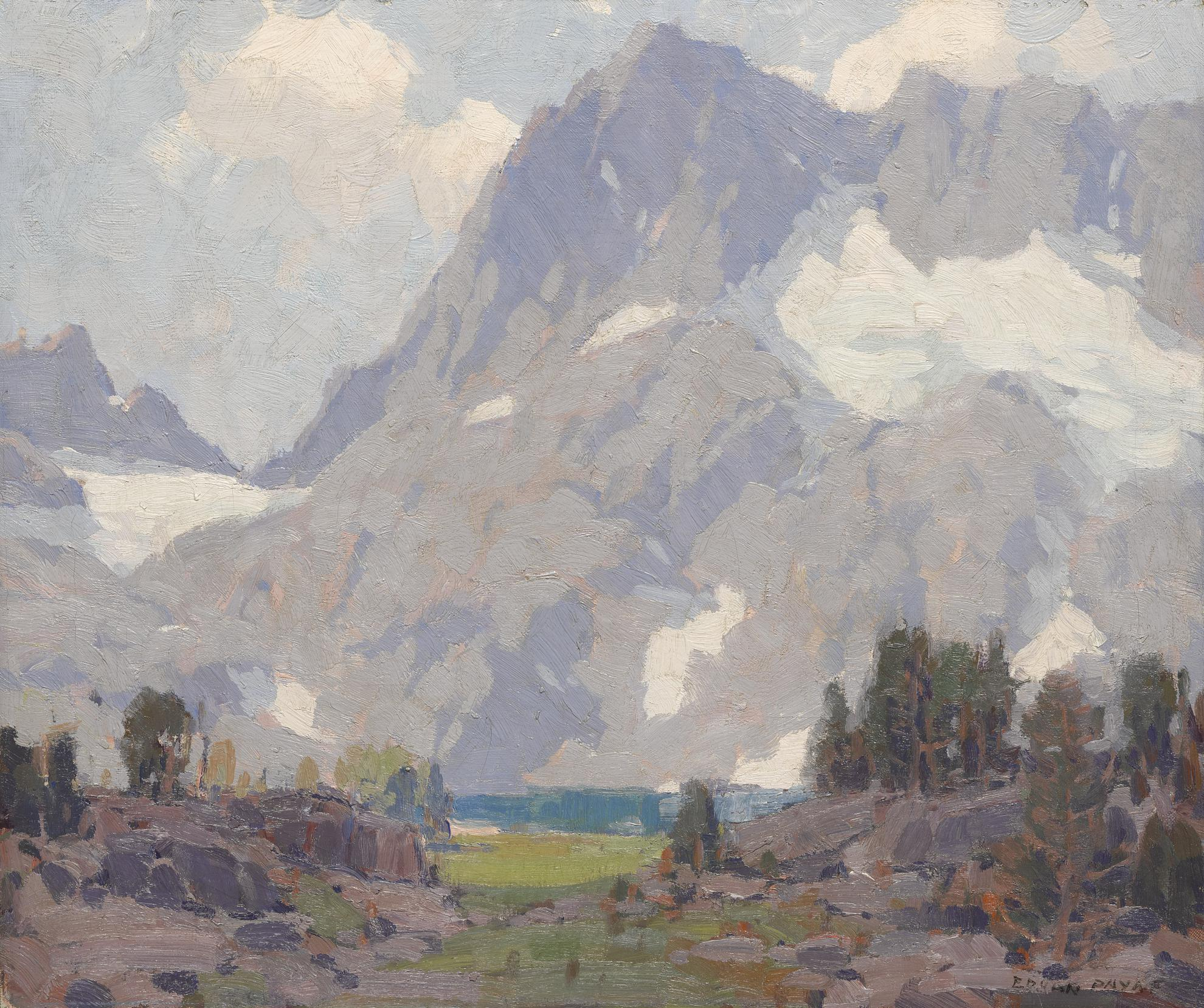Edgar Alwin Payne - The Miner Peaks At Iceberg Lake-