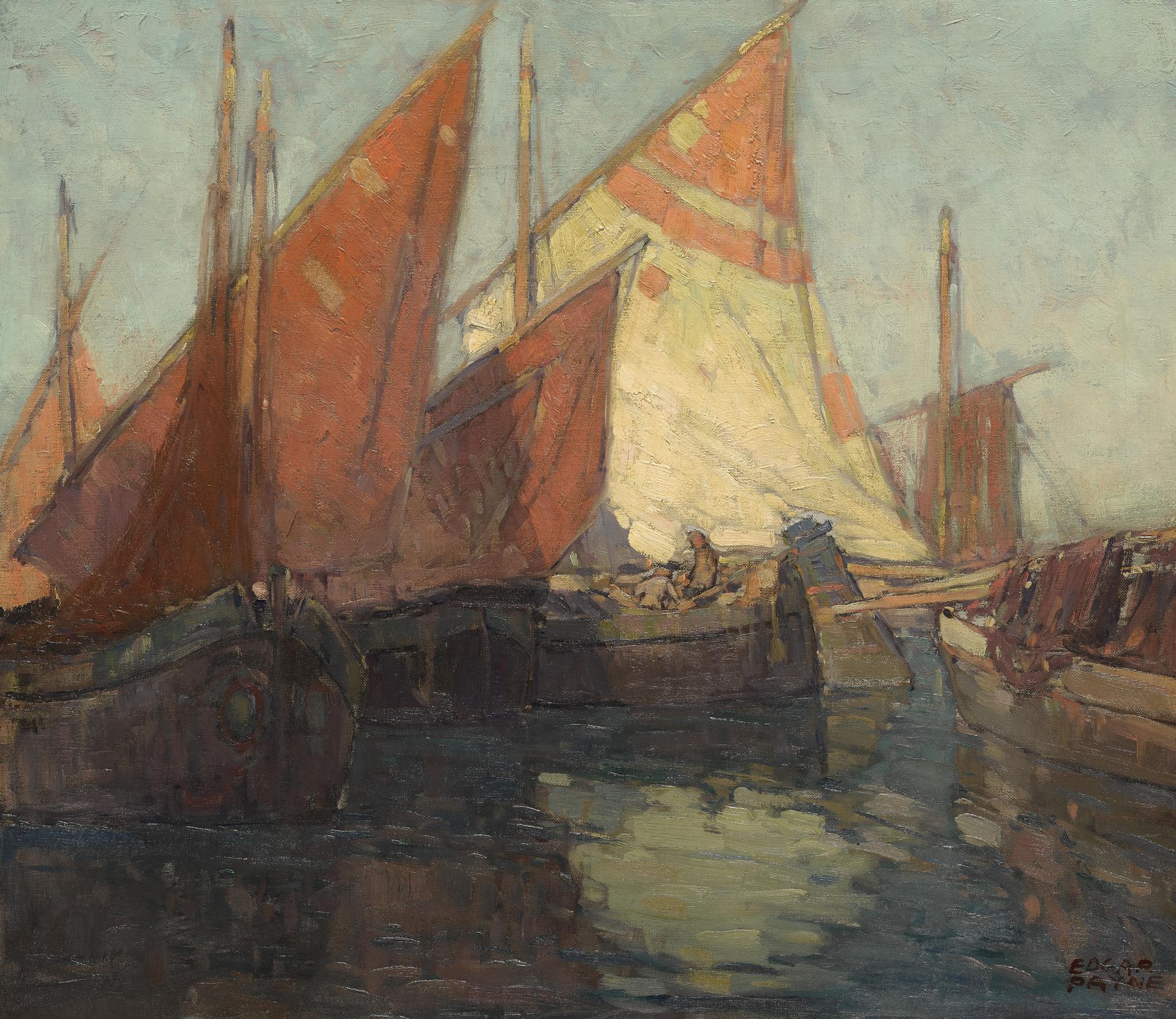 Edgar Alwin Payne - Adriatic Fishing Boats-
