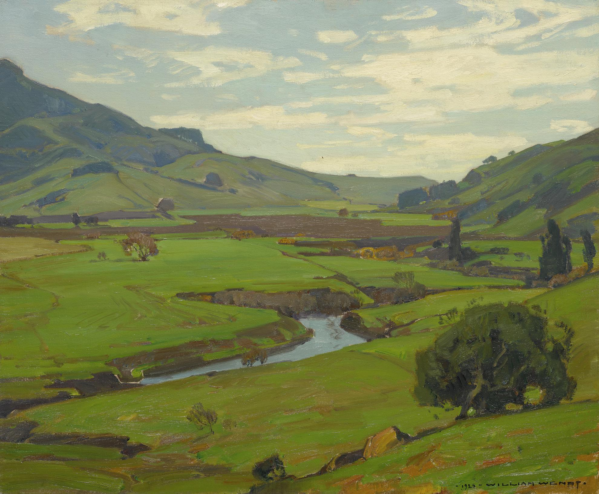 William Wendt - The Valley Stream-1925