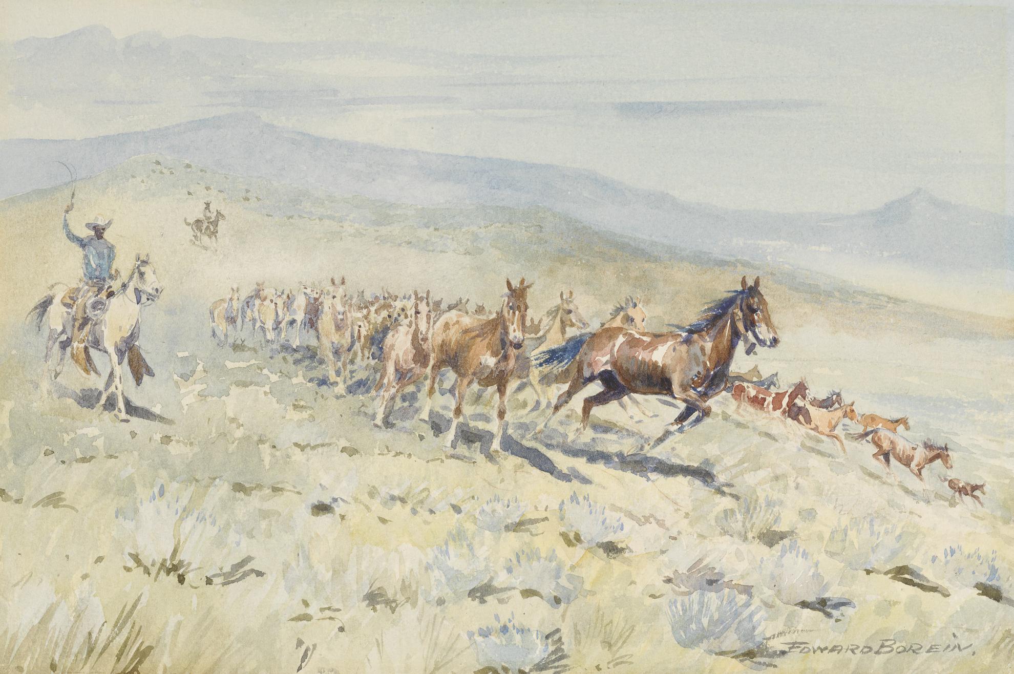 Edward Borein-Bell Mare-