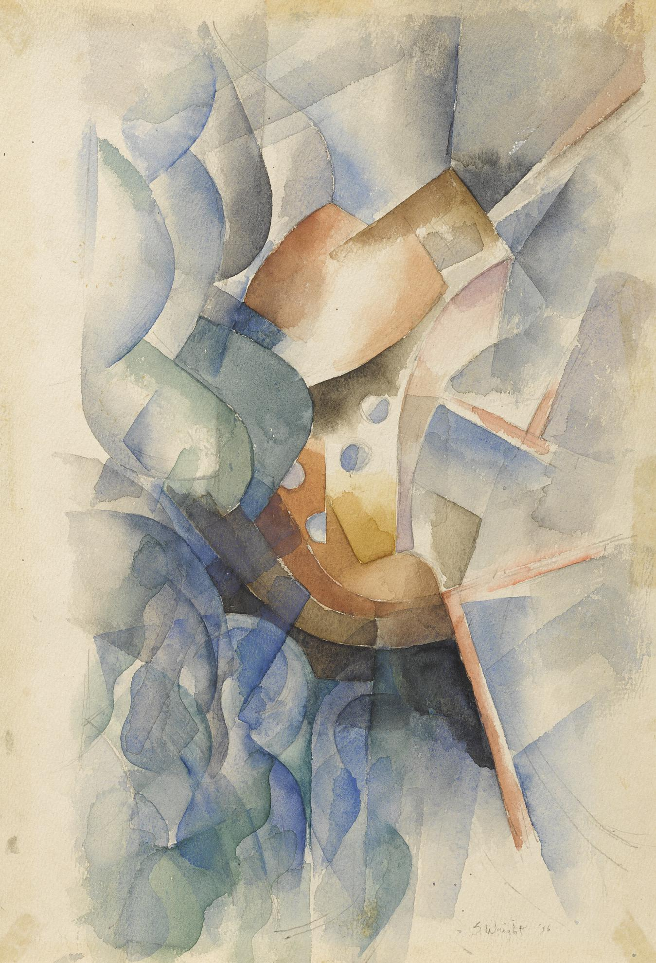 Stanton Macdonald-Wright - Sychromatist Abstraction-1956