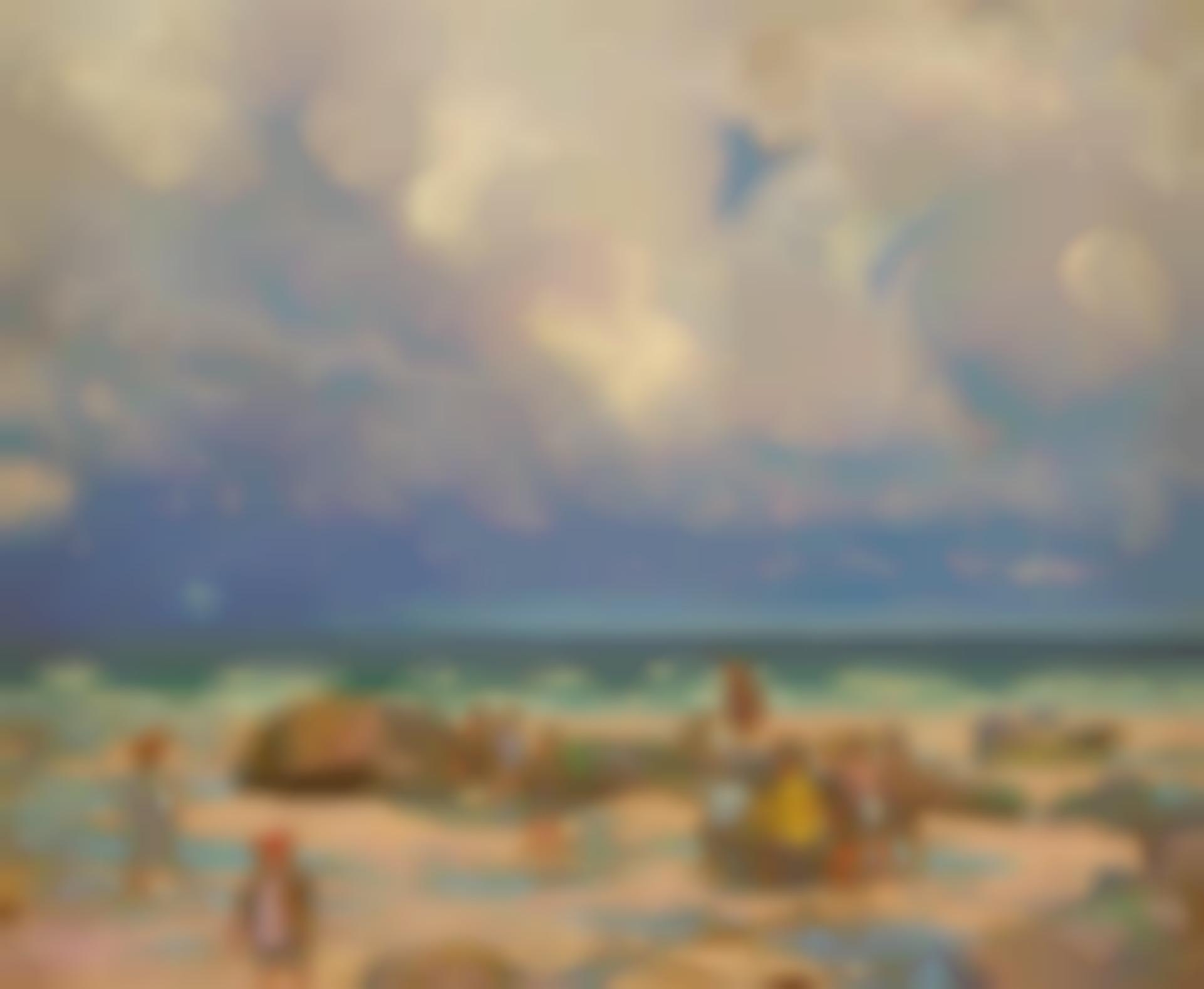 William Samuel Horton - Beach Scene-1910