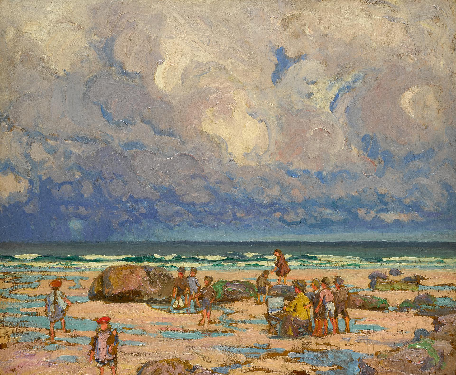 William Samuel Horton - Beach Scene-1910