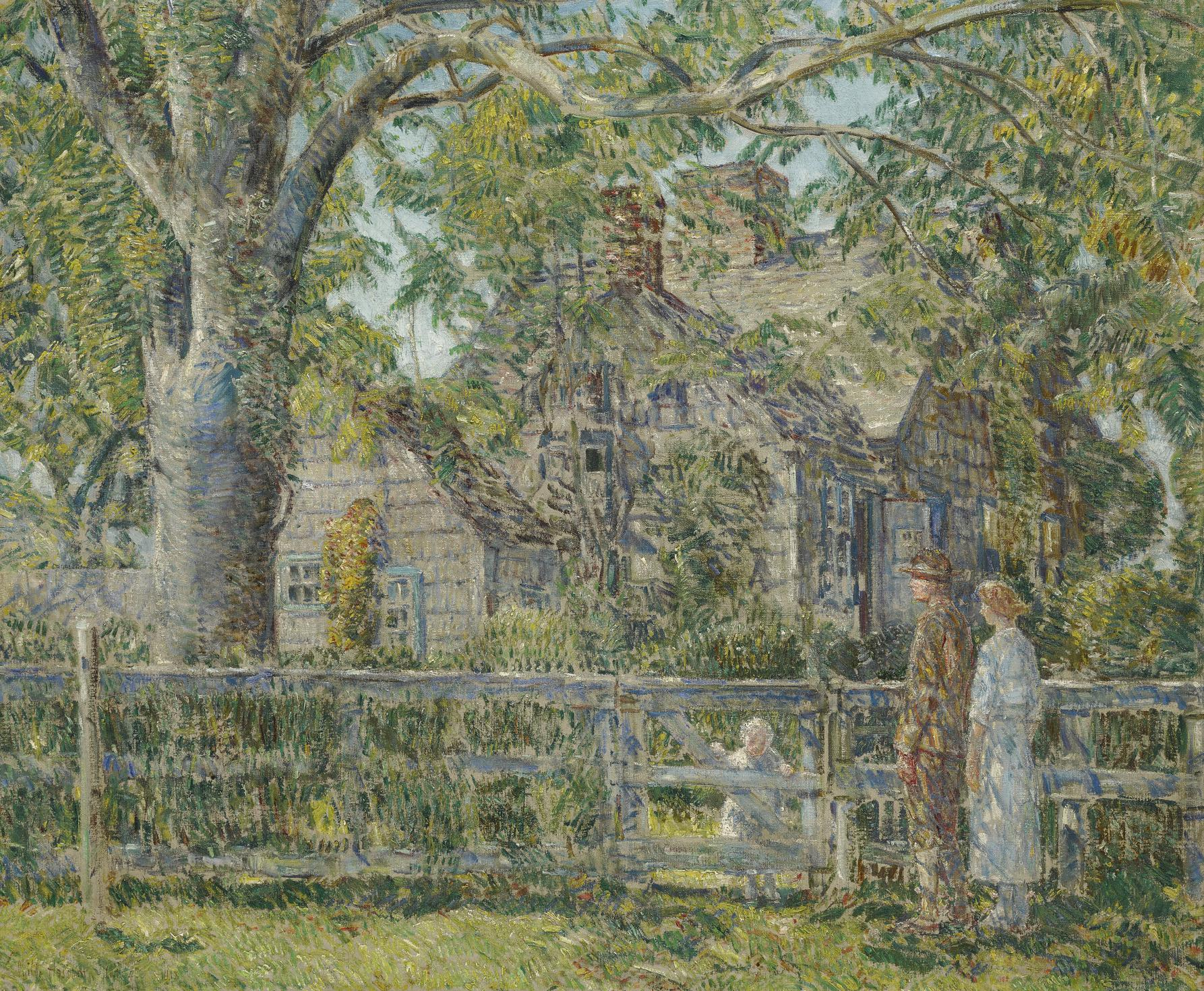 Childe Hassam-Old Mulford House, East Hampton-1918