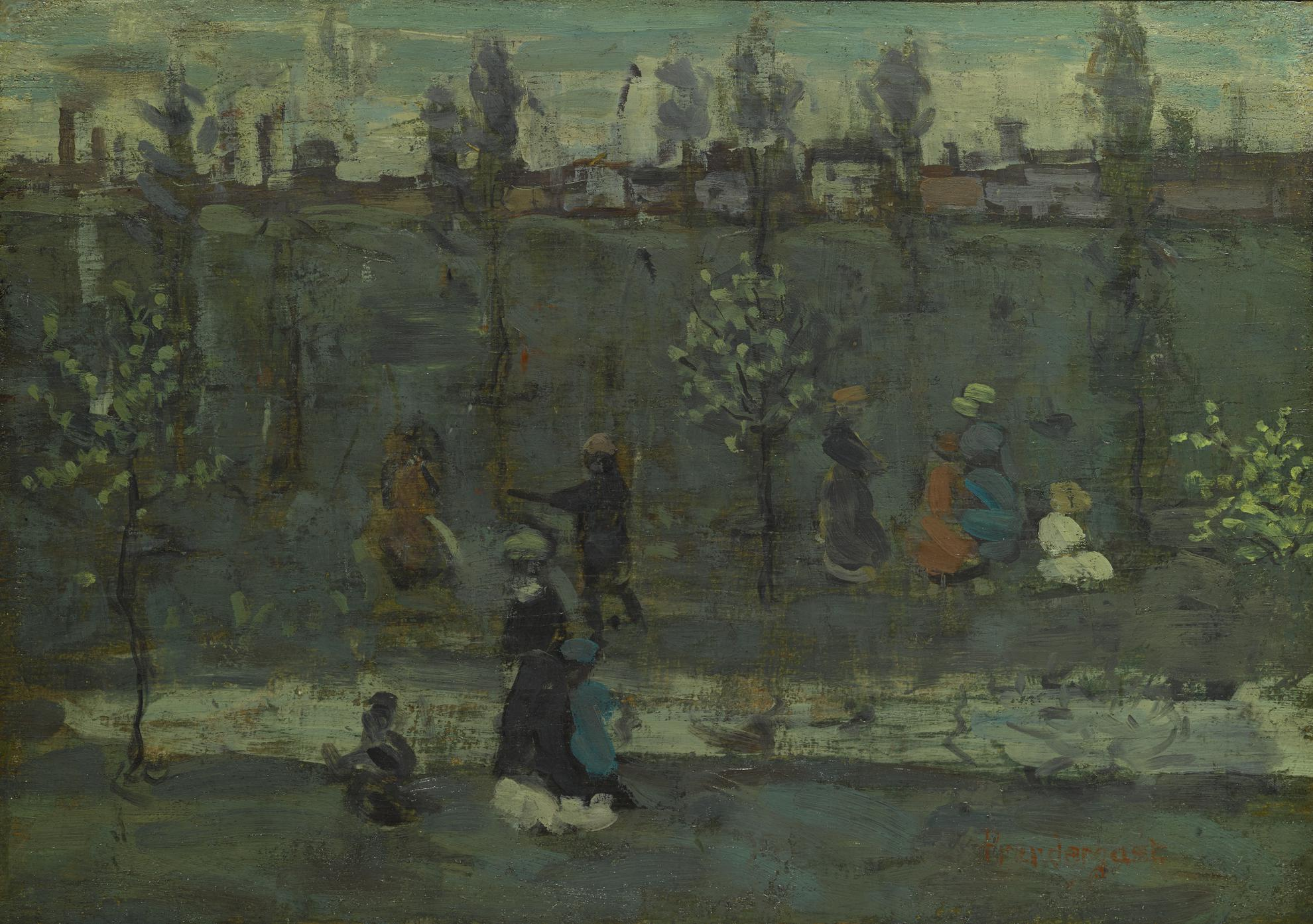 Maurice Brazil Prendergast-Figures By A Stream-1897