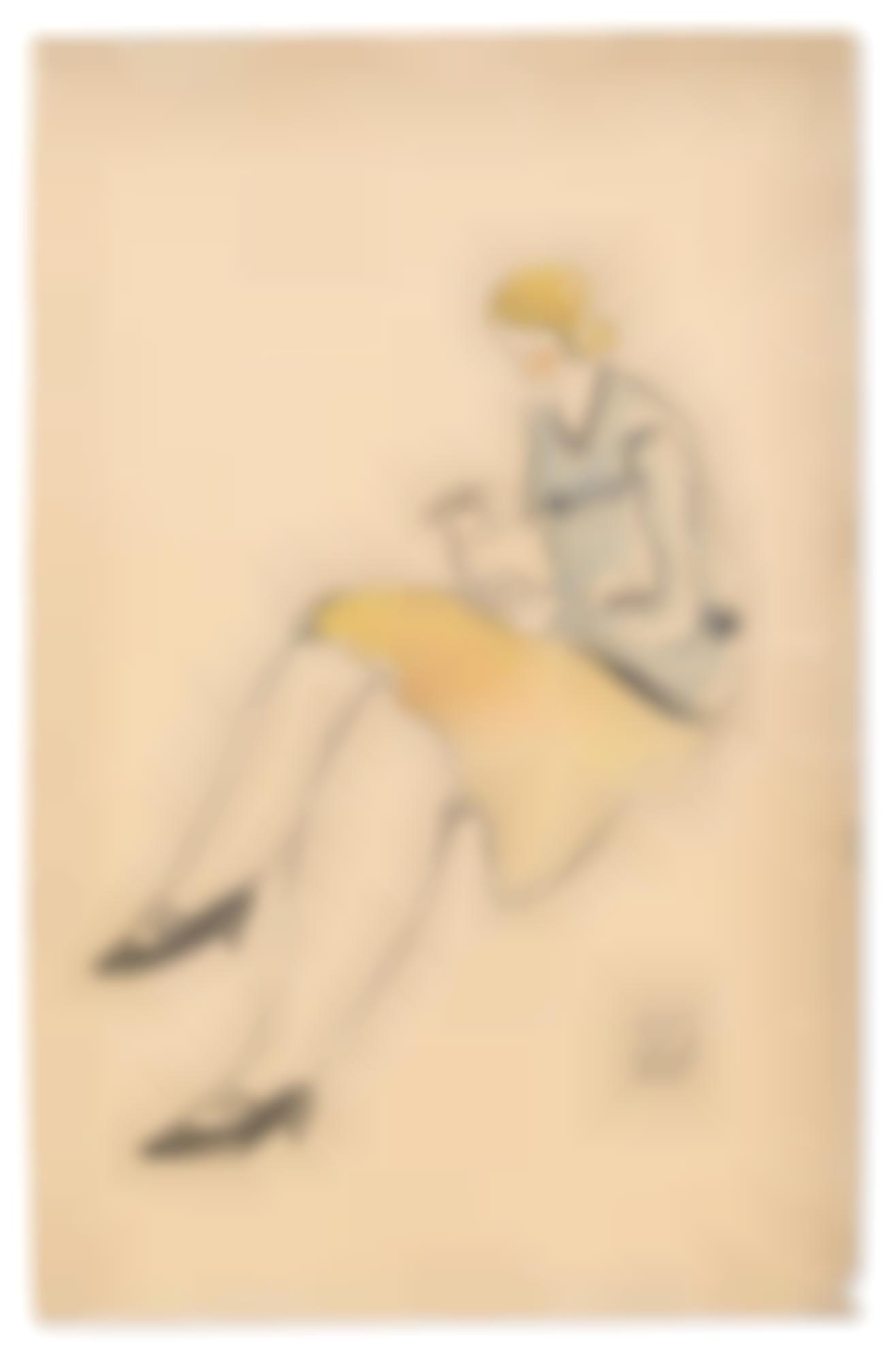 Sanyu-Lectrice A La Jupe Jaune-1930