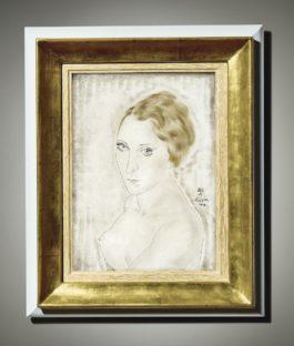 Tsuguharu Foujita-Portrait De Youki-1928