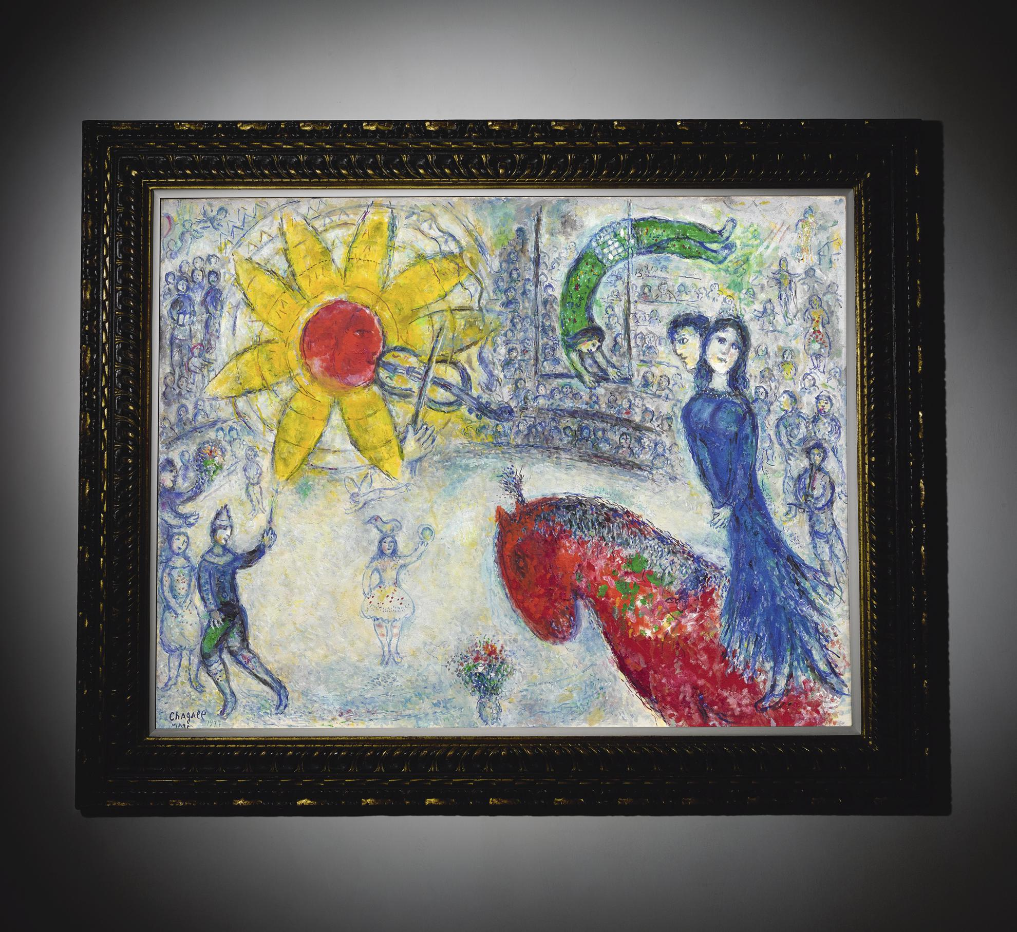 Marc Chagall-Soleil Au Cheval Rouge-1977