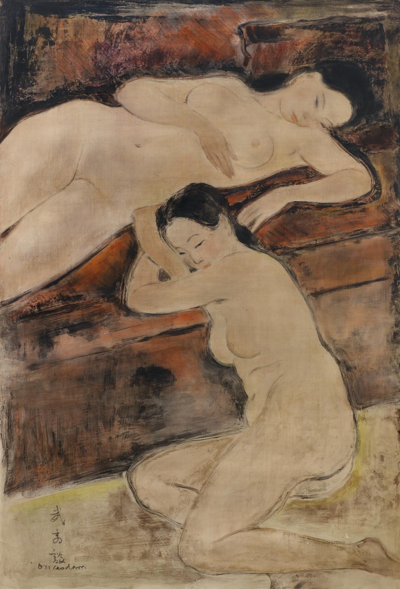 Vu Cao Dam-Le Repos Apres Le Bain (Rest After The Bath)-1939
