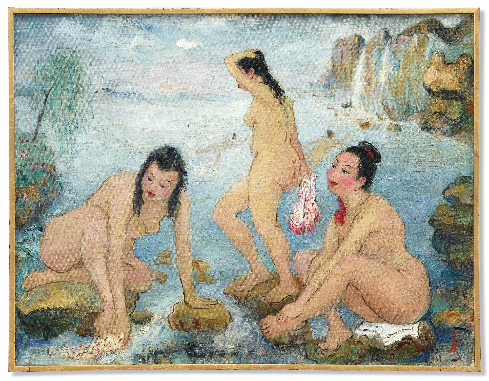 Pan Yuliang-Baigneuse-1958