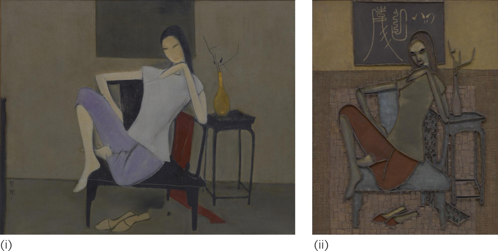Cheong Soo Pieng-(i) Untitled (Chinese Woman); (ii) Untitled-1969