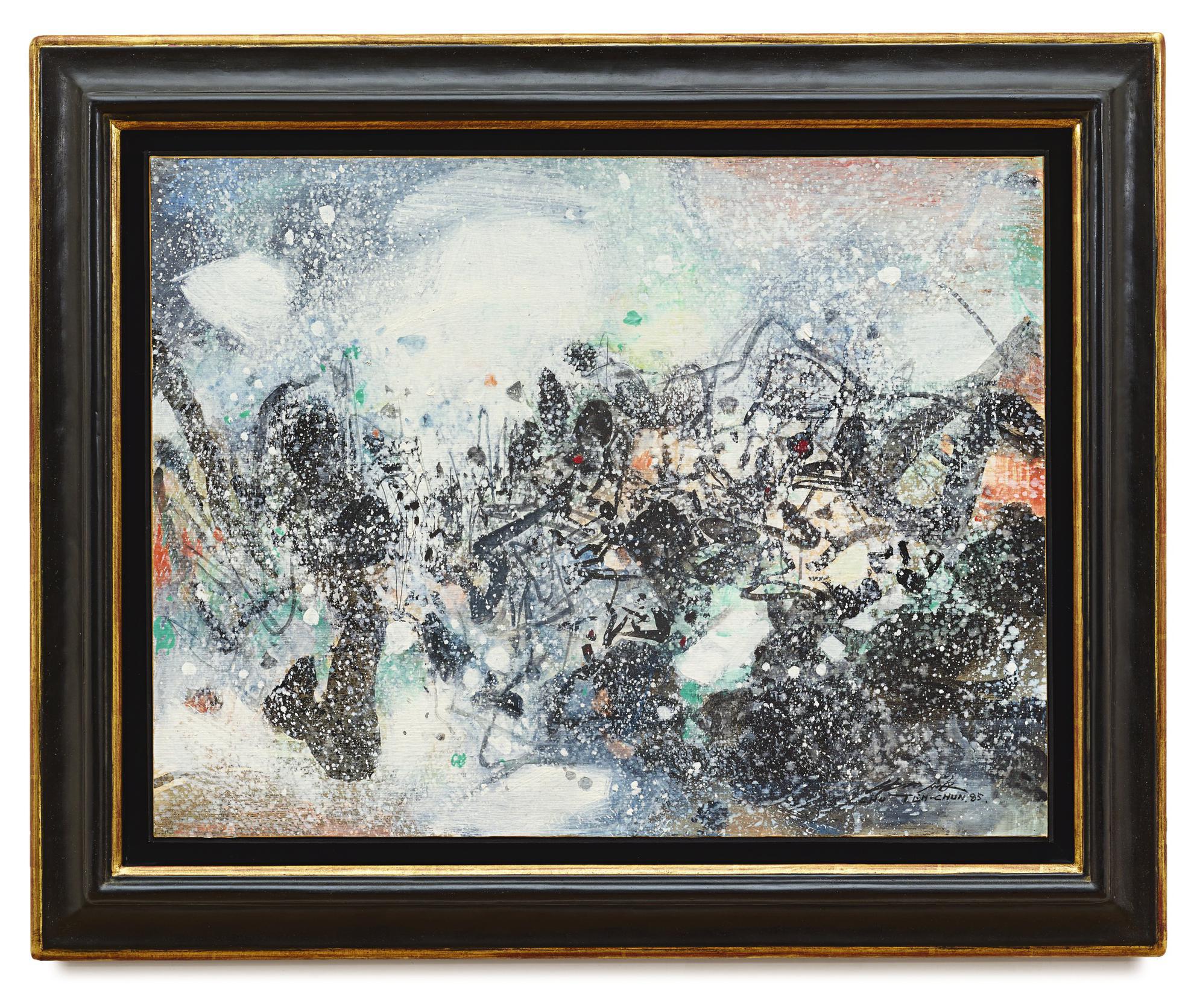 Chu Teh-Chun-Abstraction Neige I-1985