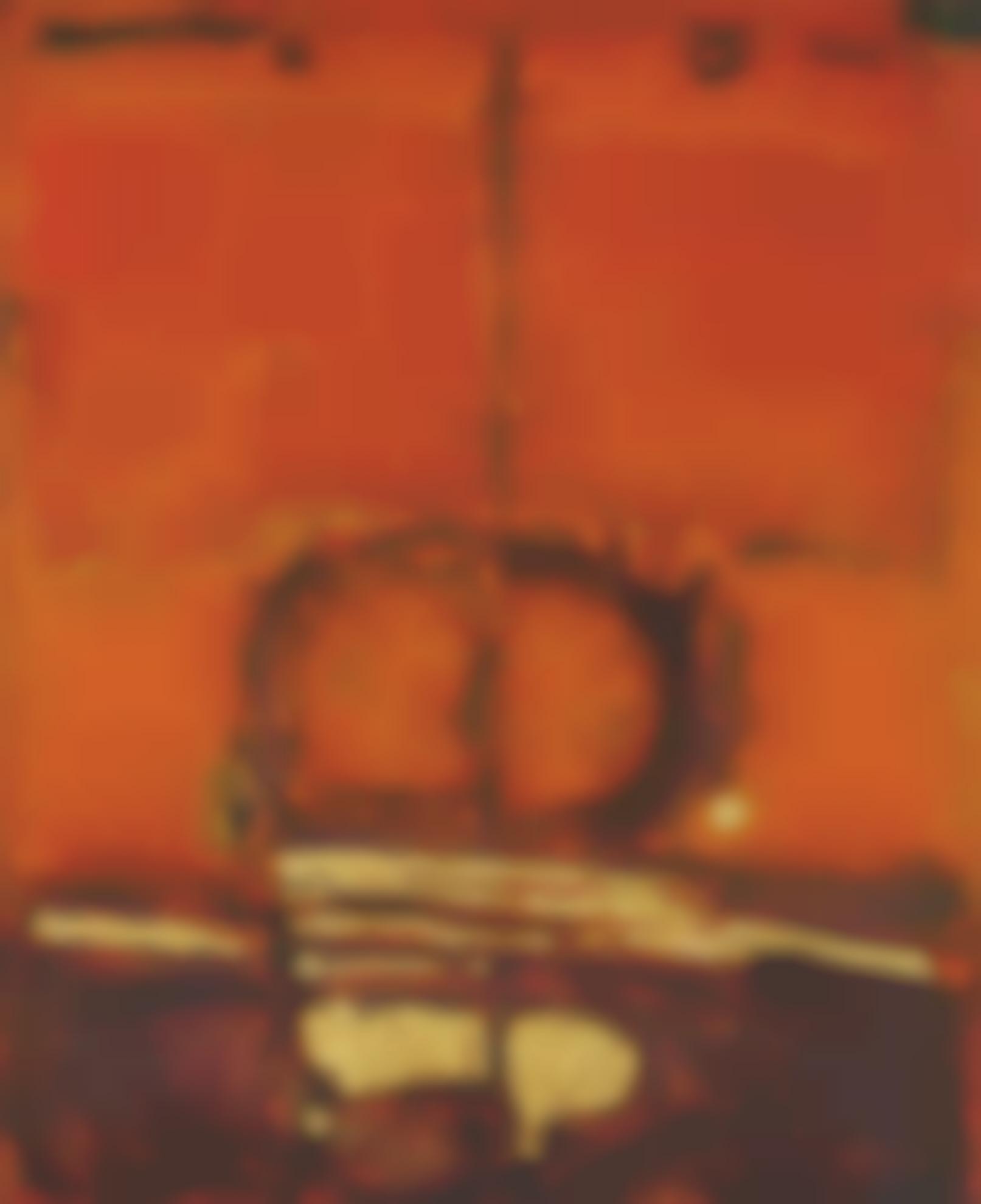 Ahmad Sadali-Untitled (Orange With Gold)-1972