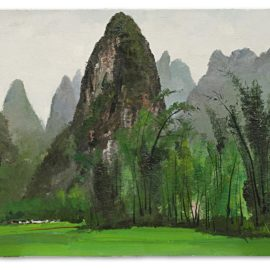 Wu Guanzhong-Bamboo Forest Of The Lijiang River-1978