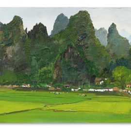 Wu Guanzhong-A Village In Guilin-1978