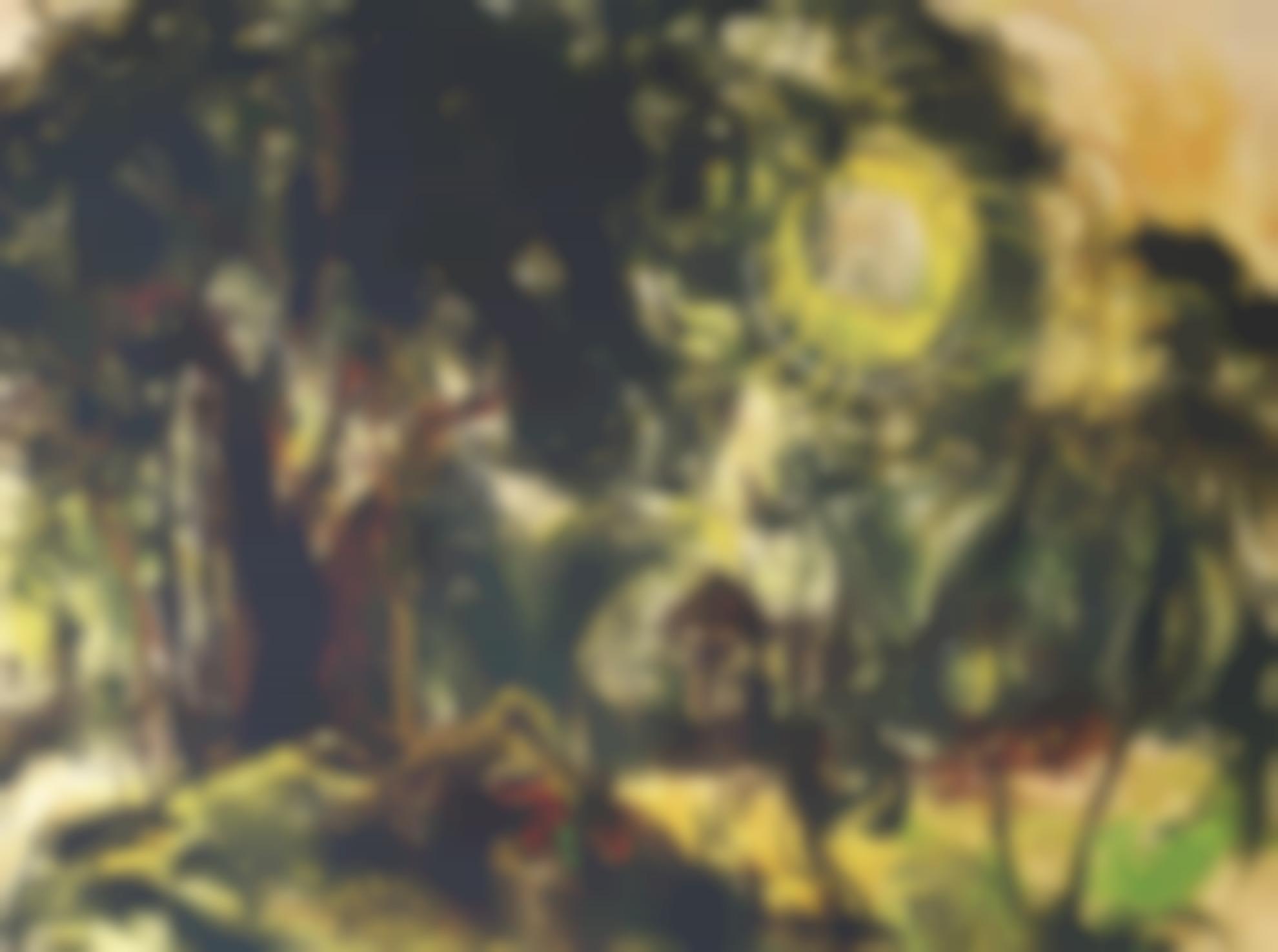 Affandi-Market Under The Banyan Tree-1970