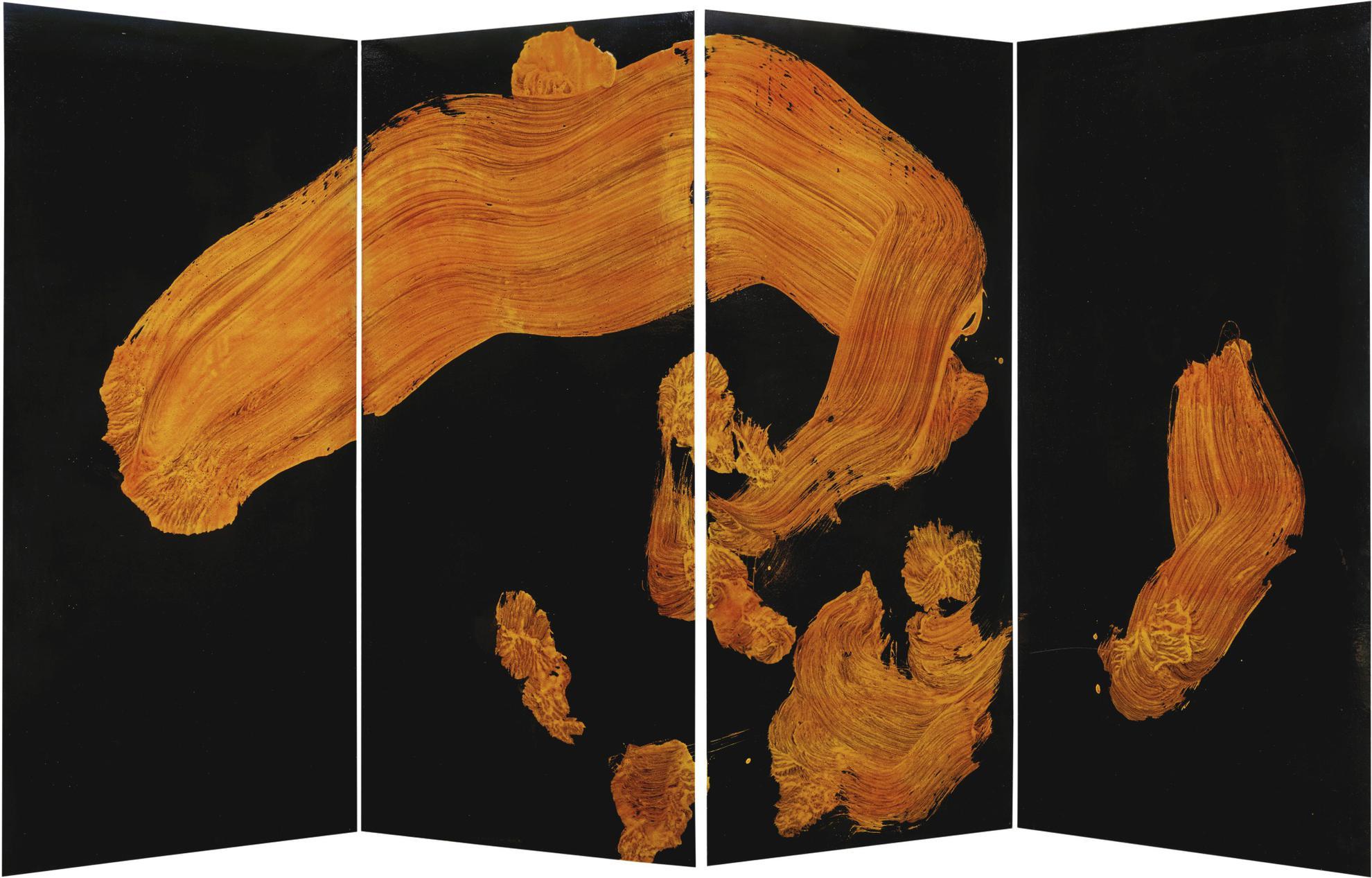 Shiryu Morita-Kanzan - Han-Shan (Folding Screen)-1969
